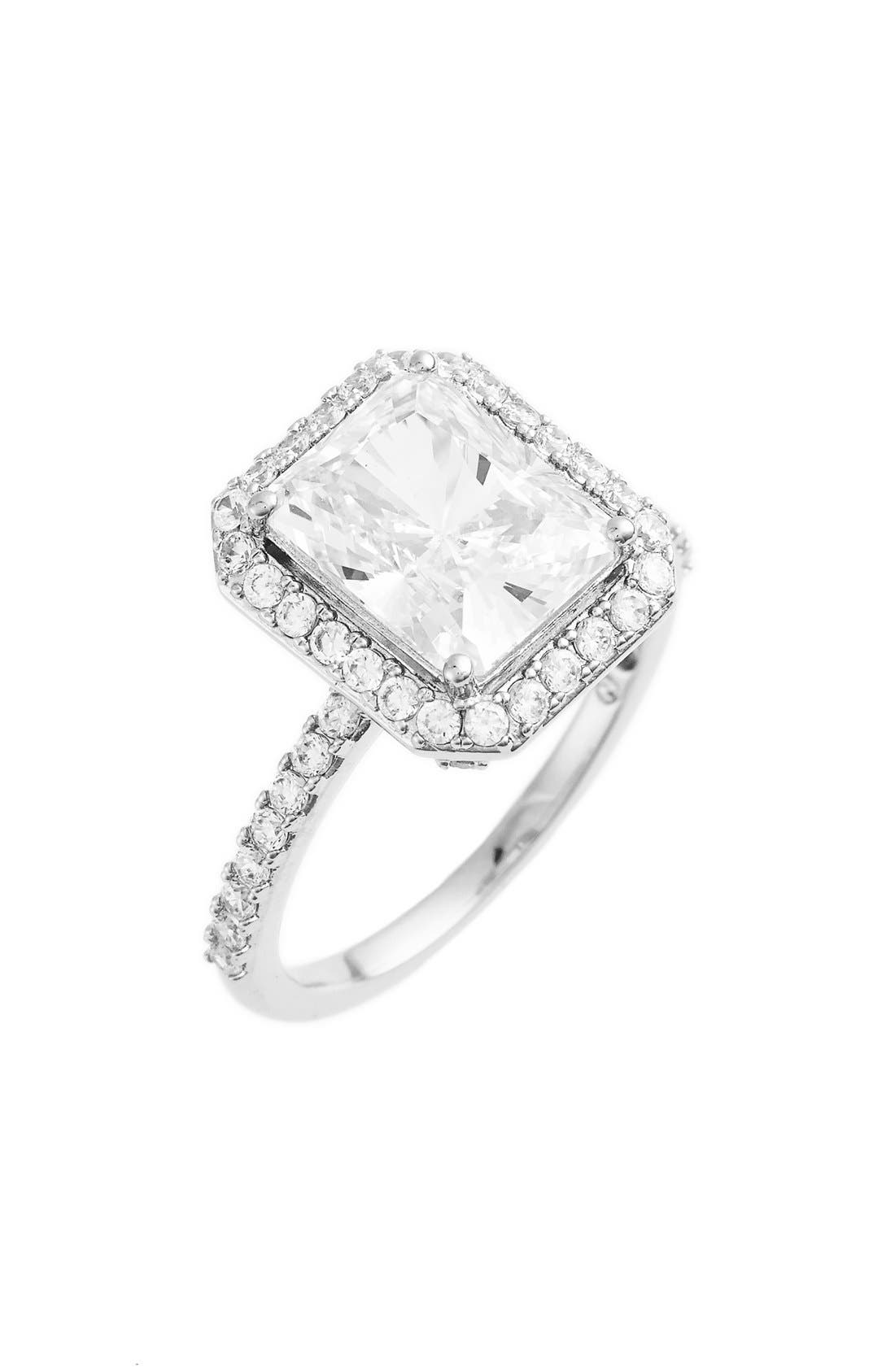 nadri cushion cut cubic zirconia ring