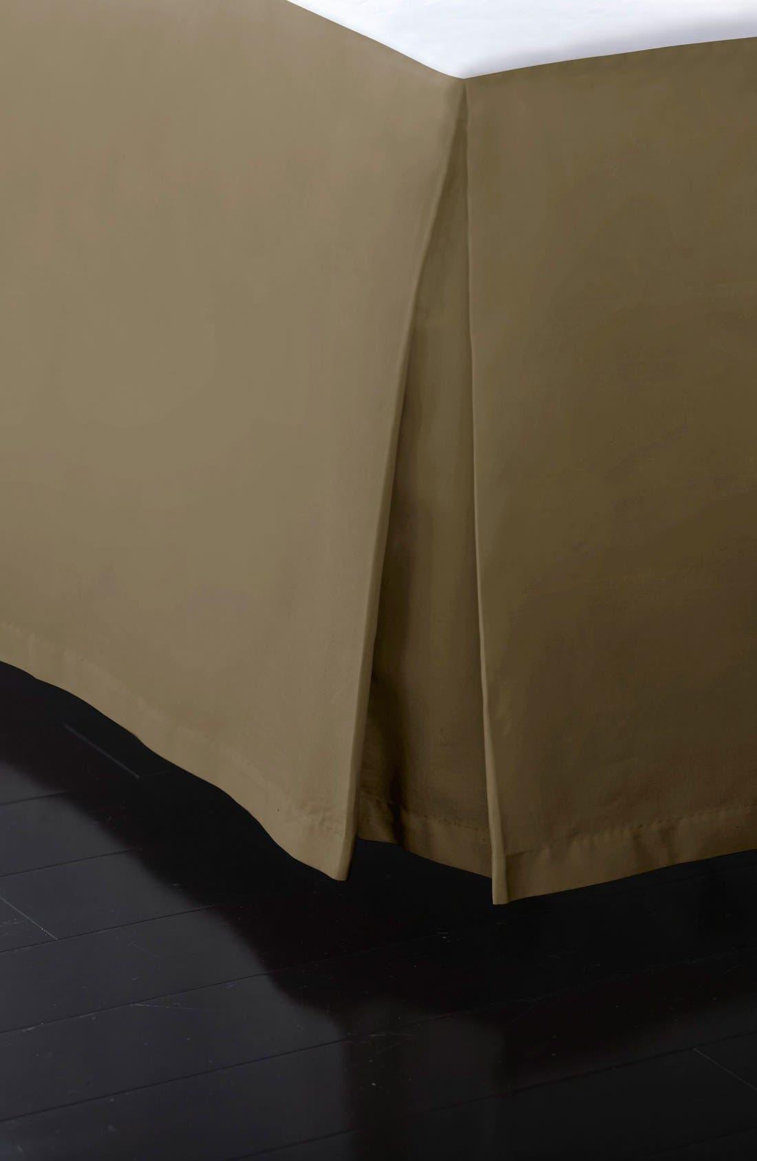 Donna Karan Collection 510 Thread Count Bed Skirt,                         Main,                         color, Shiitake