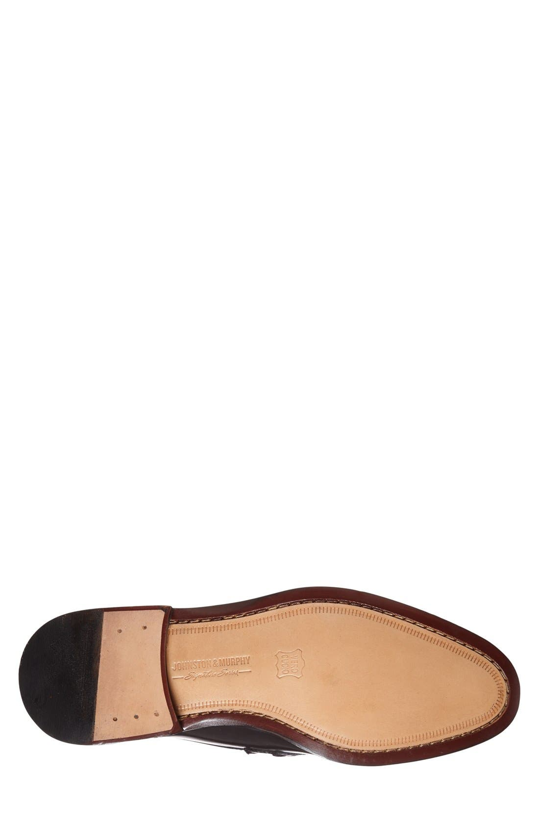 'Stratton' Bit Loafer,                             Alternate thumbnail 4, color,                             Black