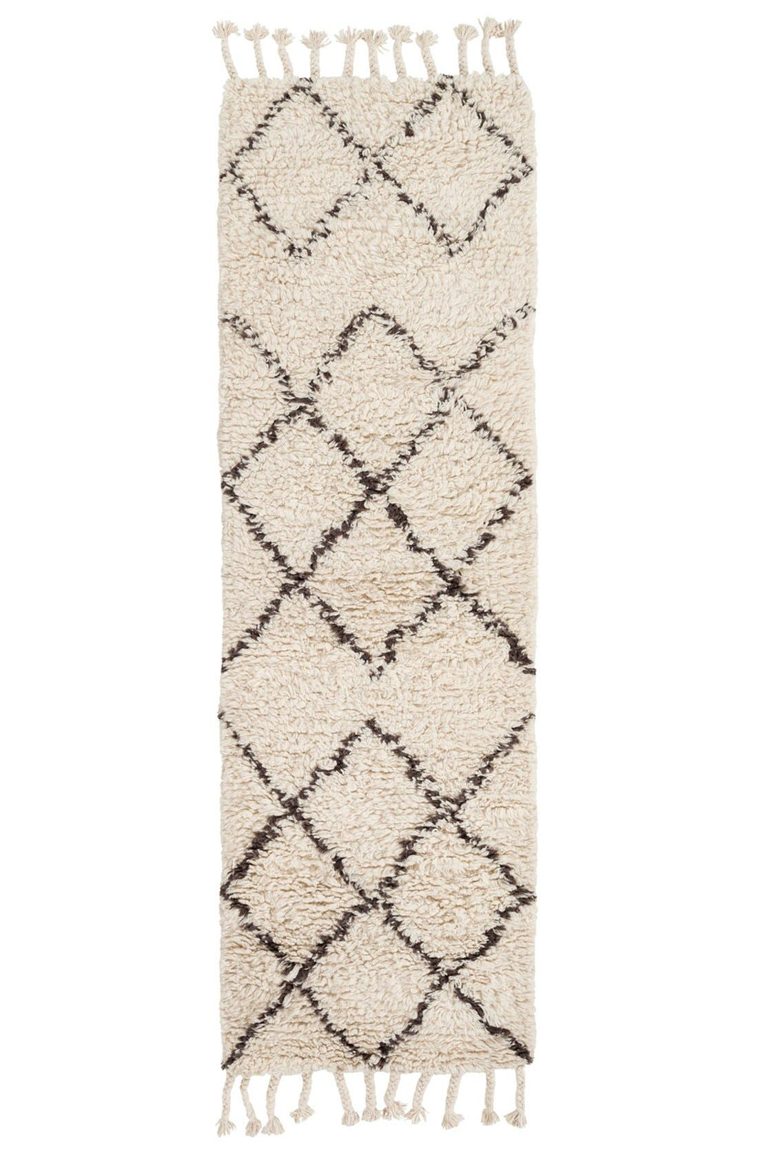 'Sherpa - Lines' Wool Rug,                             Alternate thumbnail 2, color,                             Ivory/ Taupe