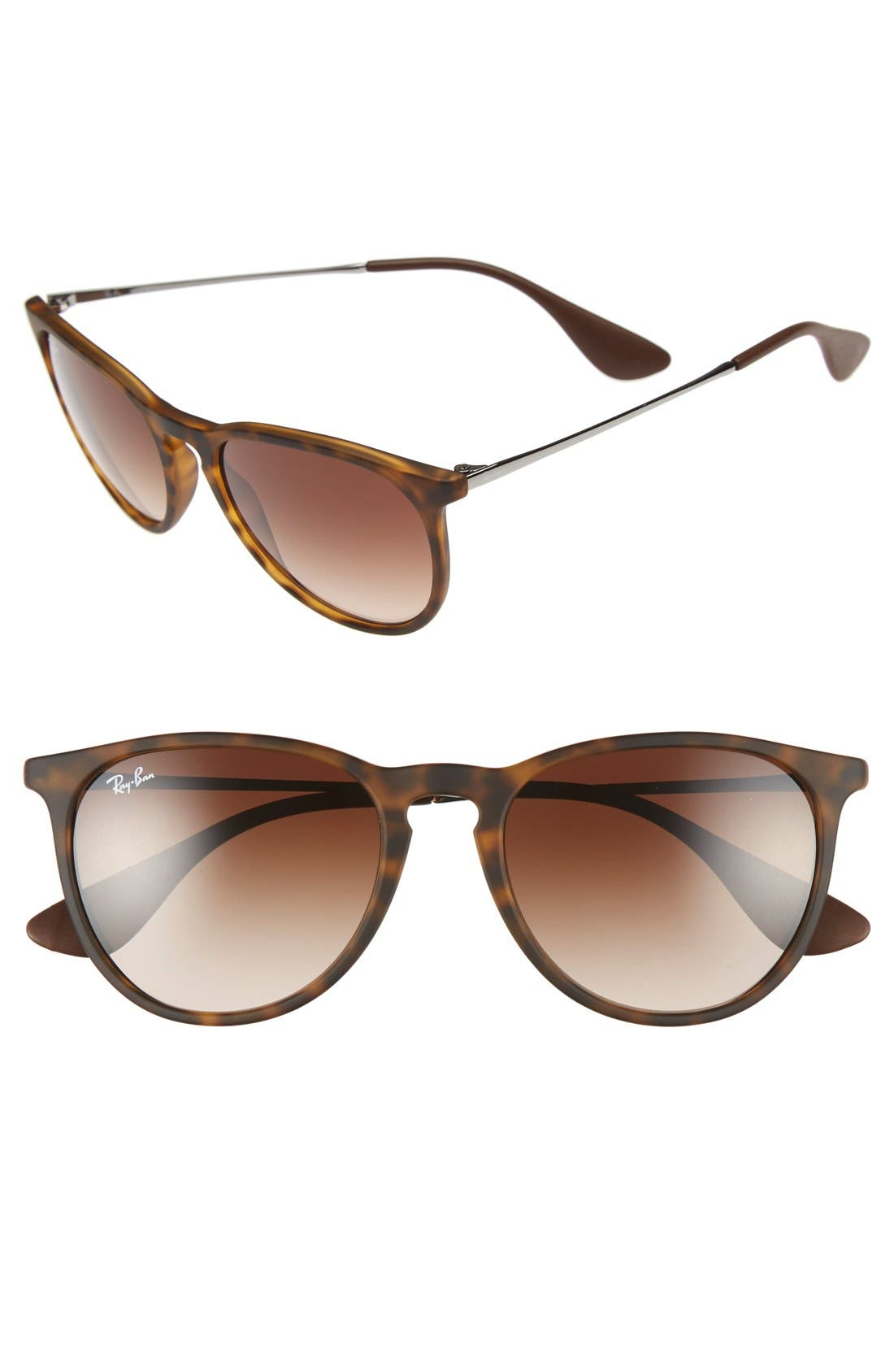 54mm Keyhole Sunglasses,                             Main thumbnail 1, color,                             Matte Havana