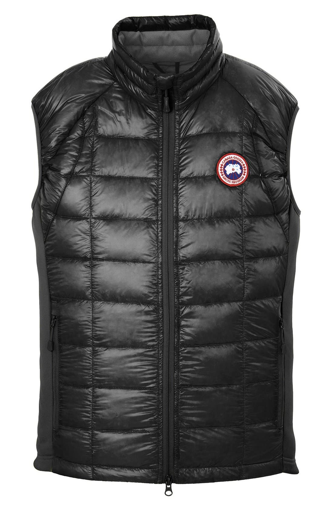 'Hybridge<sup>™</sup> Lite' Slim Fit Packable Quilted 800-Fill Down Vest,                             Alternate thumbnail 2, color,                             Black