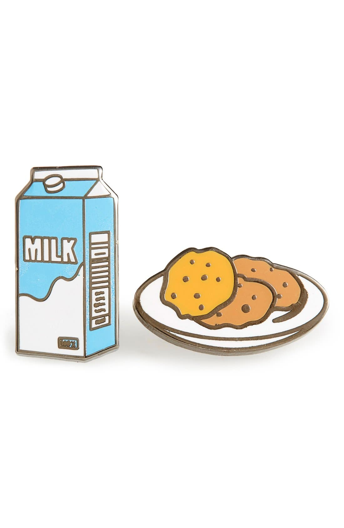 Main Image - PINTRILL 'Milk & Cookies' Fashion Accessory Pins (Set of 2)