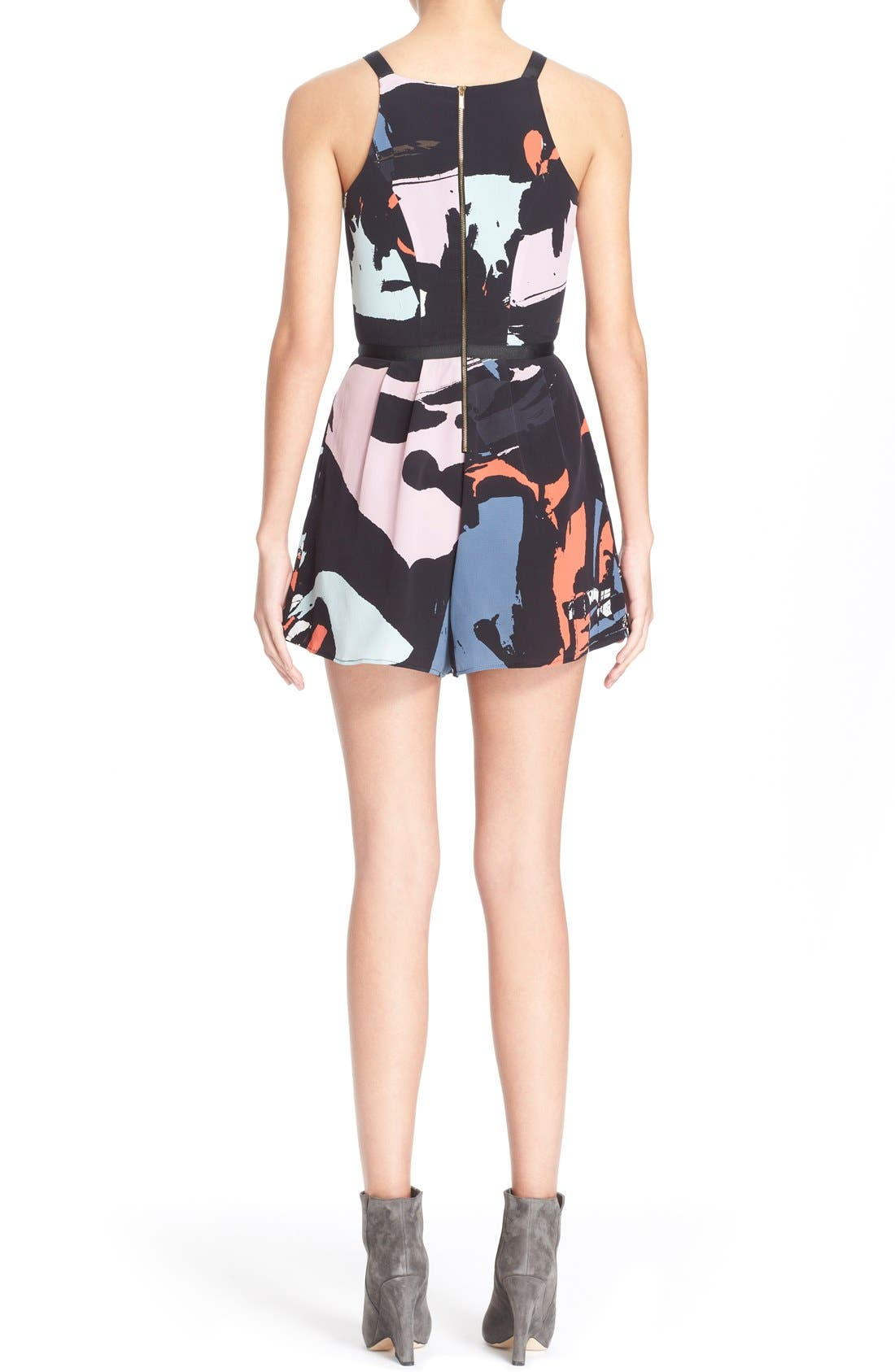 Alternate Image 2  - Hunter Bell 'Maggy' Print Silk Romper