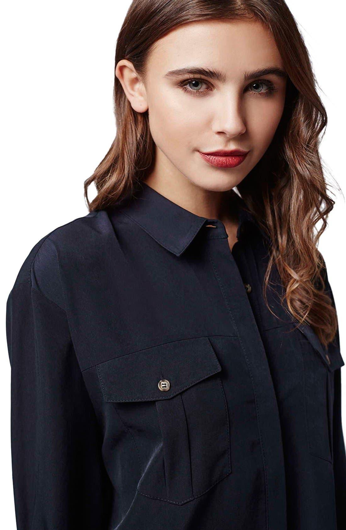 Alternate Image 4  - Topshop Oversize Shirtdress (Petite)