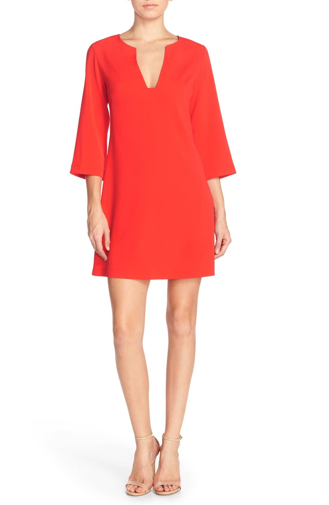 Main Image - Amanda Uprichard Stretch Crepe A-Line Dress