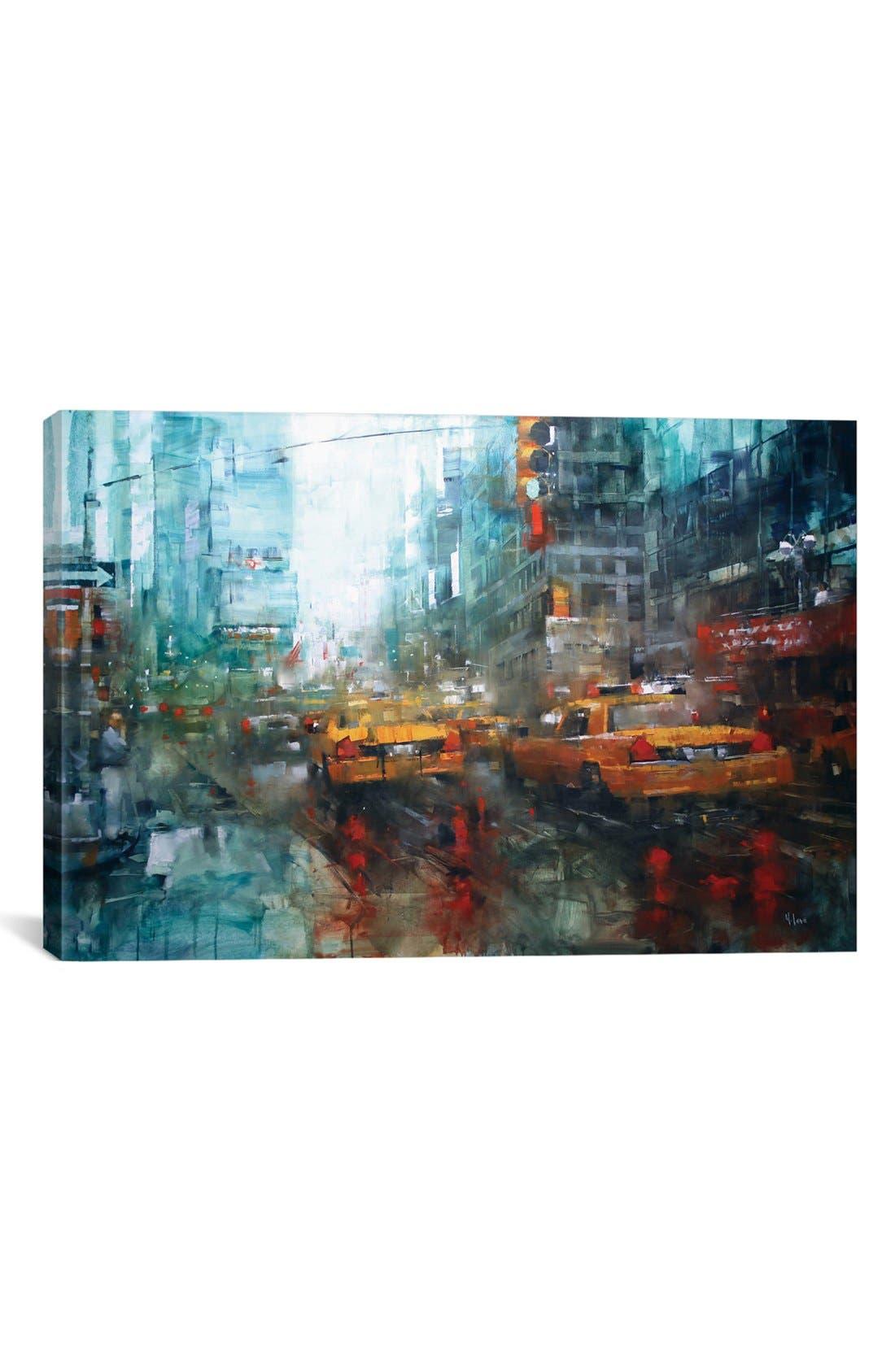'Reflections' Giclée Print Canvas Art,                             Main thumbnail 1, color,                             Blue