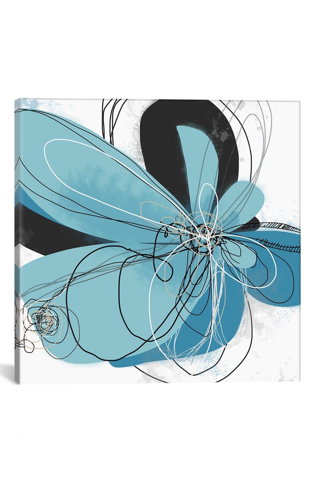 Main Image - iCanvas 'Azul Poetry' Giclée Print Canvas Art