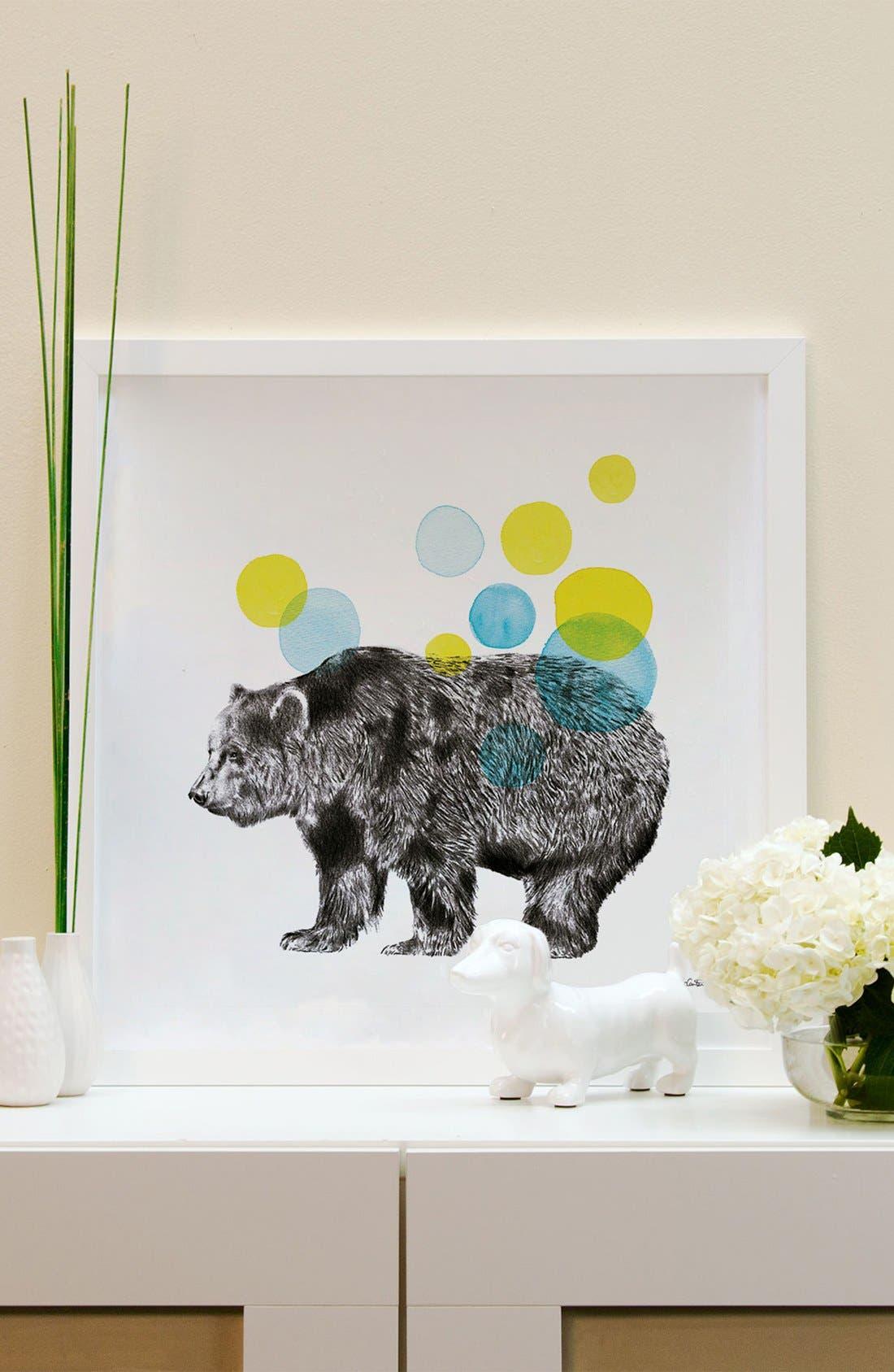Alternate Image 2  - iCanvas 'Sketchbook - Bear' Giclée Print Framed Canvas Art