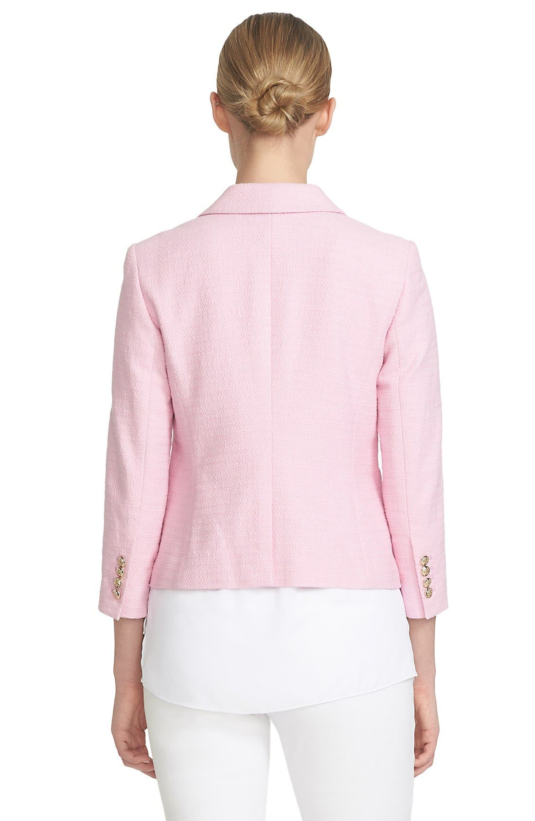 Alternate Image 3  - CeCe by Cynthia Steffe Basket Weave One-Button Blazer