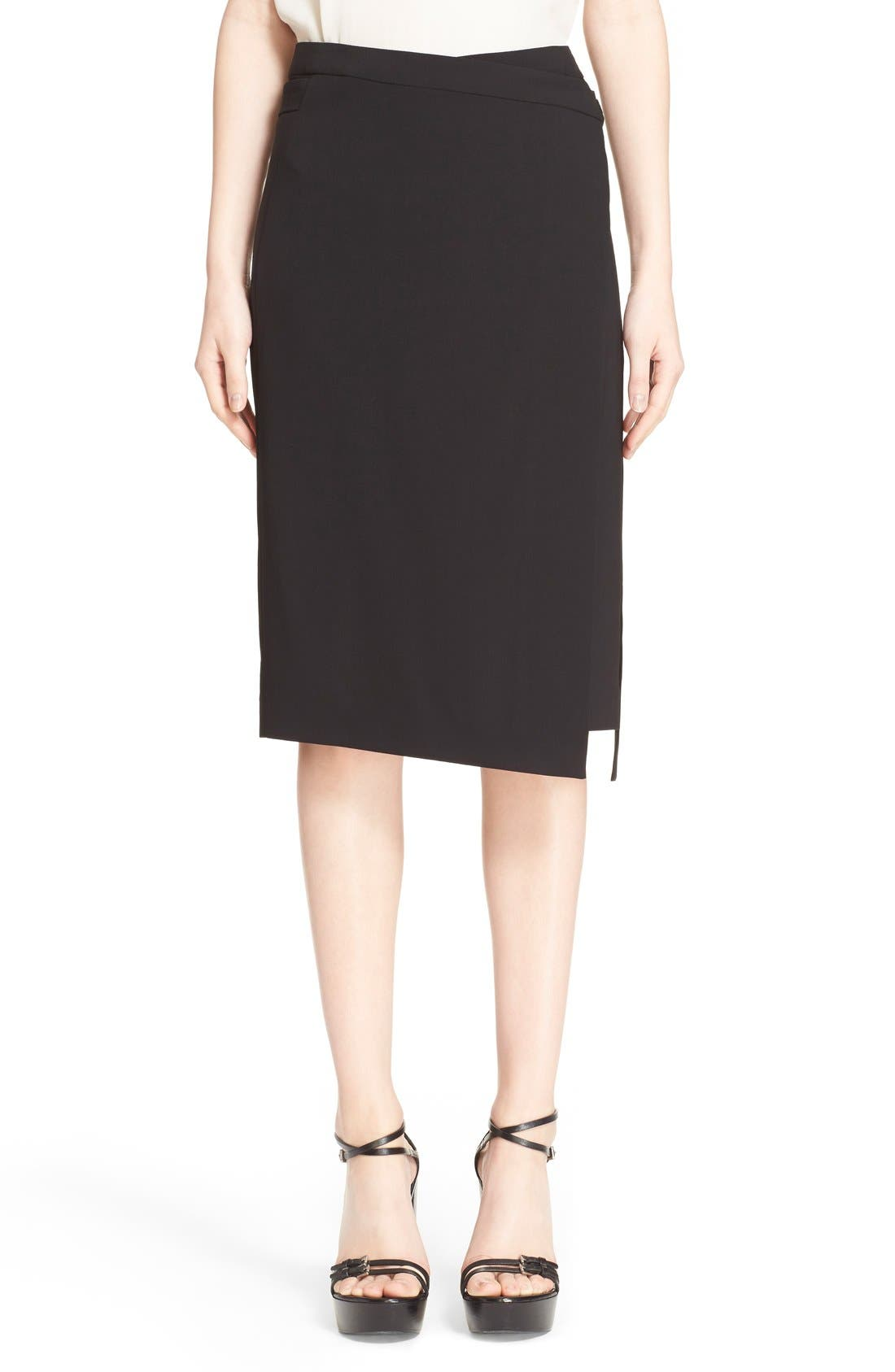 Main Image - Michael Kors Belted Wool Wrap Skirt