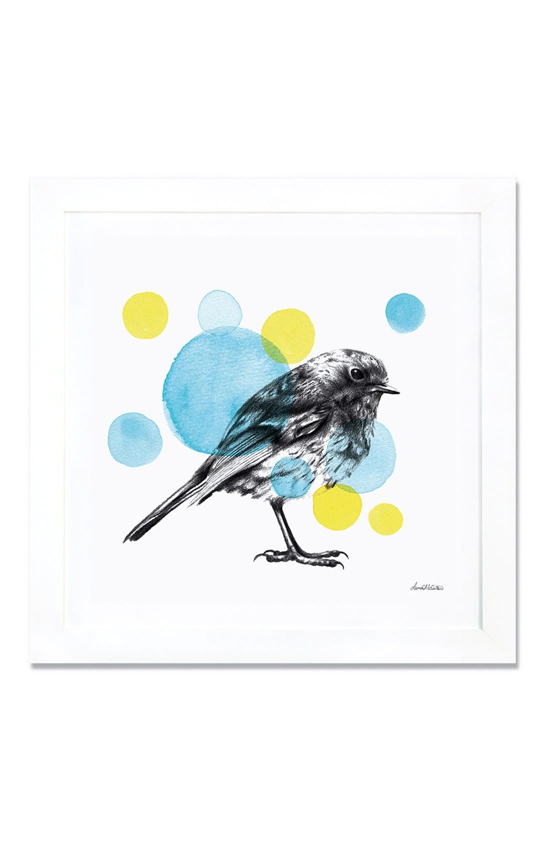 'Sketchbook - Bird' Giclée Print Framed Canvas Art,                         Main,                         color, White