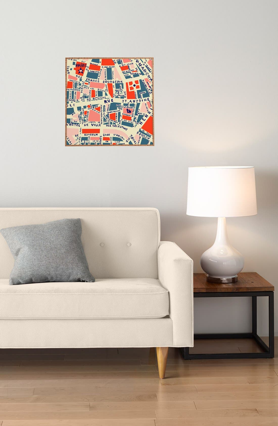 Alternate Image 3  - Deny Designs 'Paris Map' Wall Art