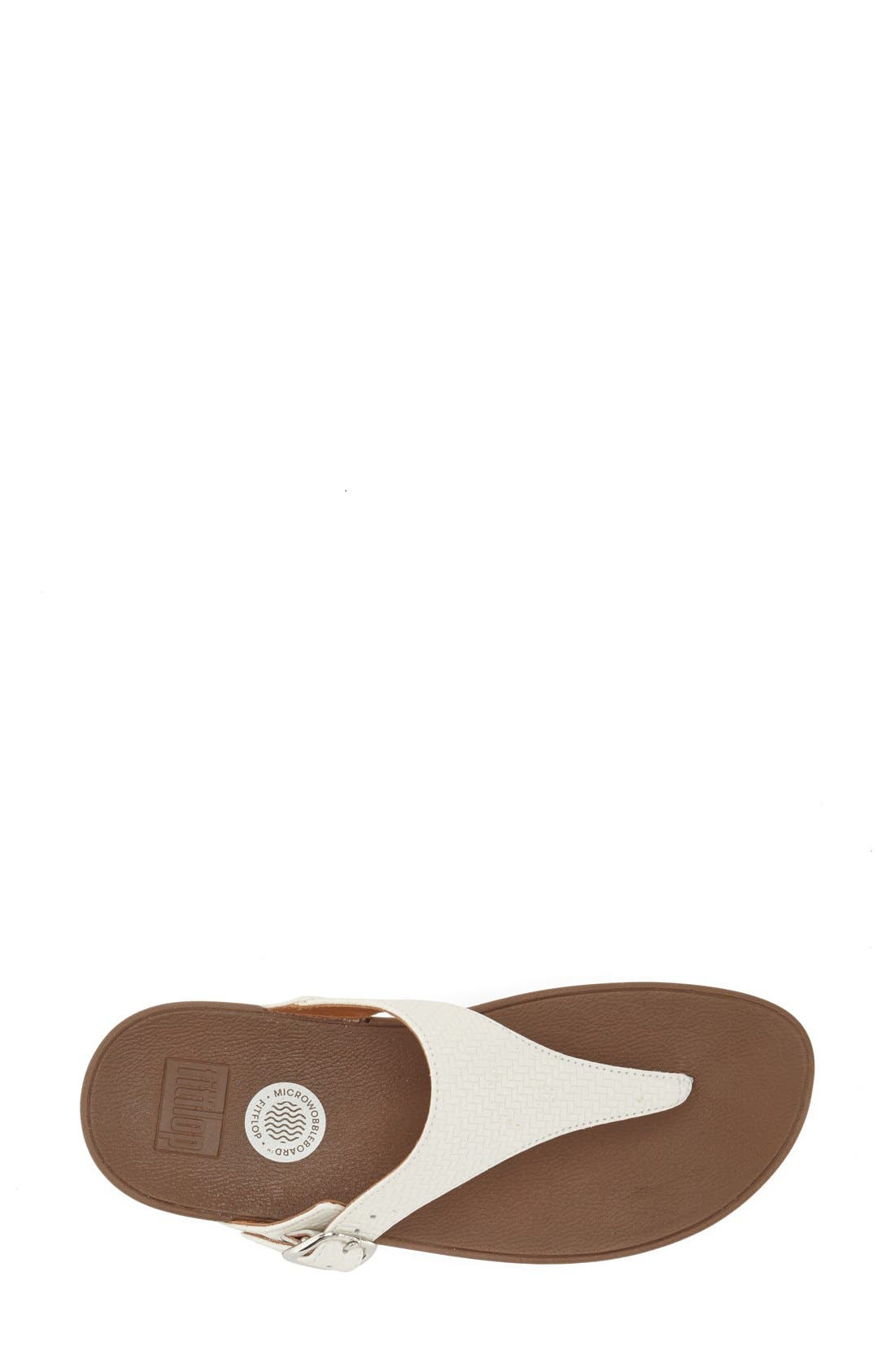 The Skinny Flip Flop,                             Alternate thumbnail 3, color,                             Urban White Leather