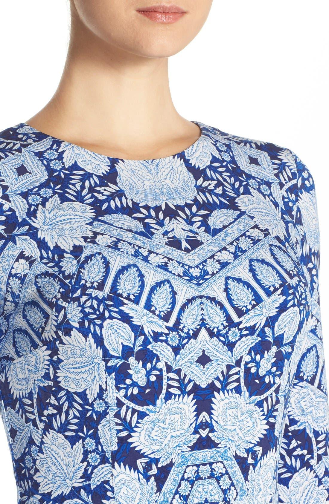 Alternate Image 4  - Maggy London Print Jersey Midi Dress