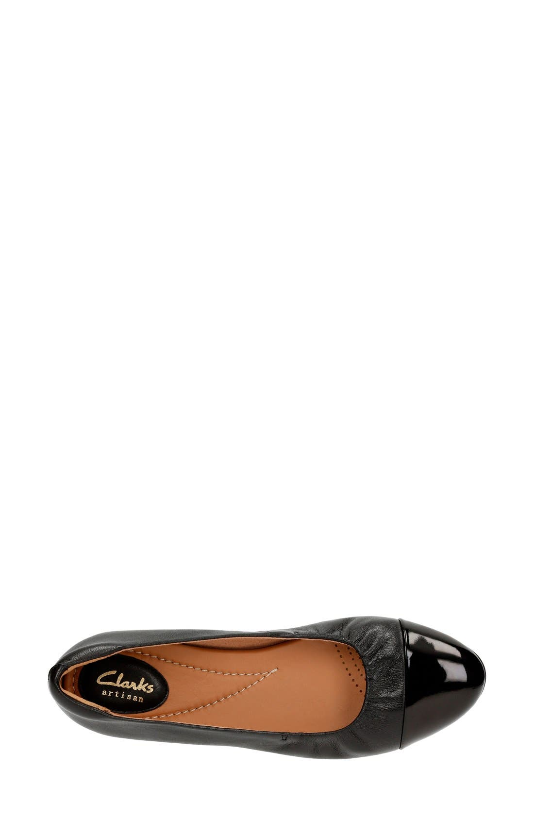 Alternate Image 3  - Clarks® 'Alitay Susan' Cap Toe Flat (Women)