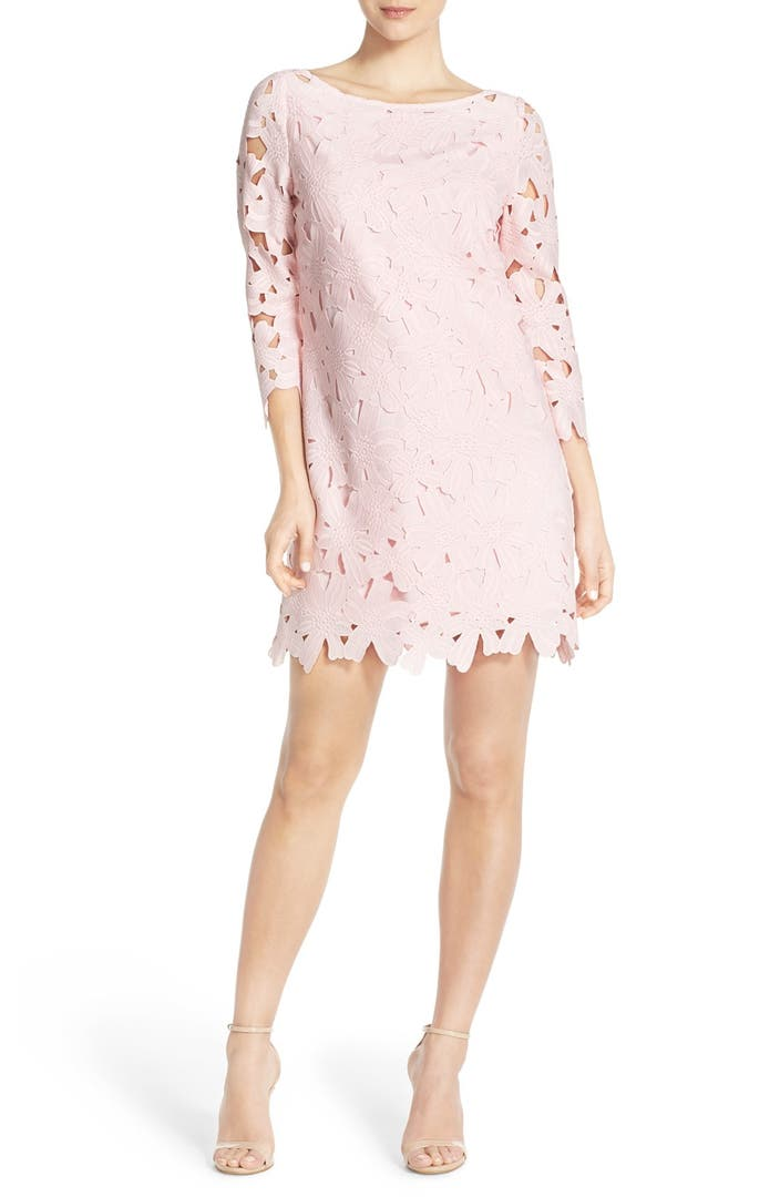 Felicity coco belza floral lace shift dress nordstrom for Nordstrom women s wedding guest dresses