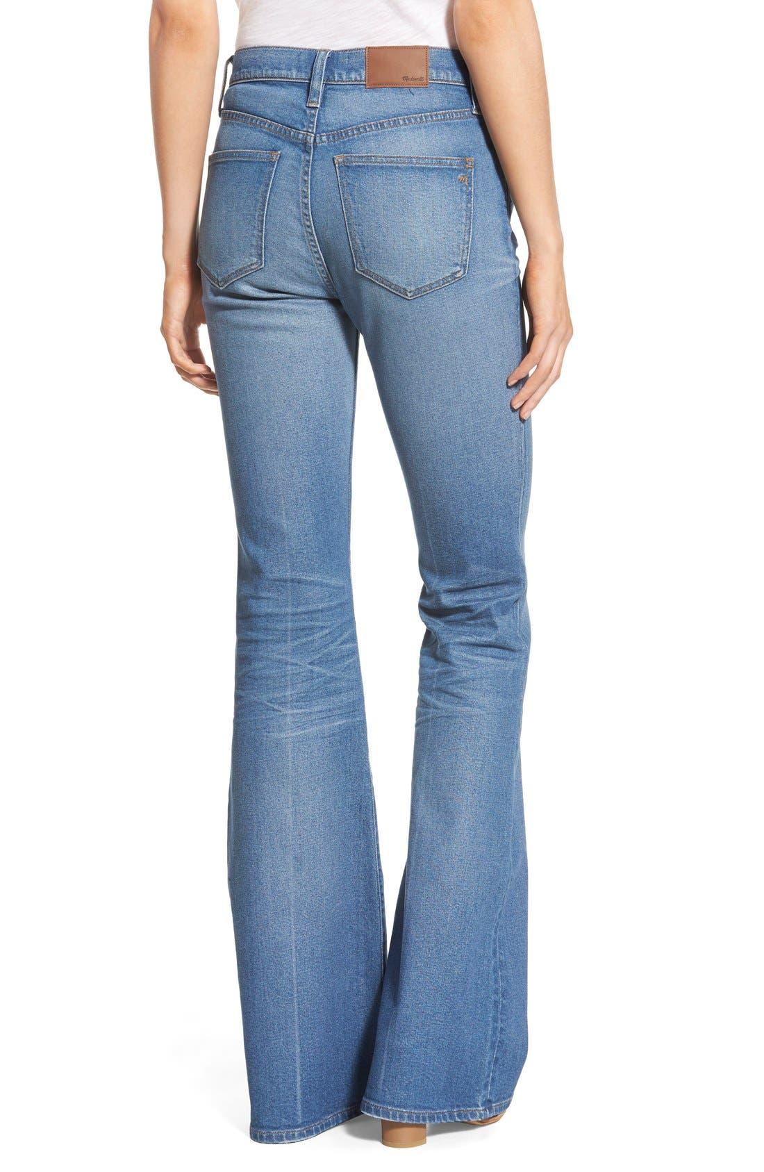 'Flea Market' Flare Jeans,                             Alternate thumbnail 2, color,                             Maribel