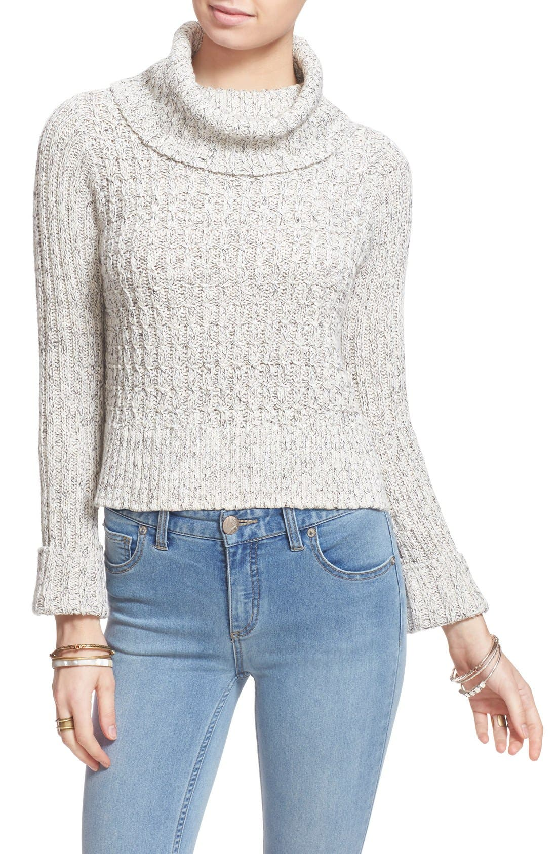 Main Image - Free People 'Twisted Cable' Turtleneck Sweater