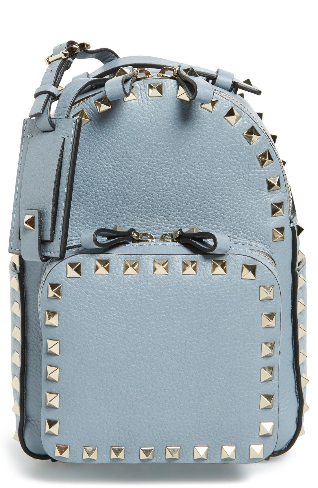 Main Image - Valentino 'Small Rockstud' Leather Backpack