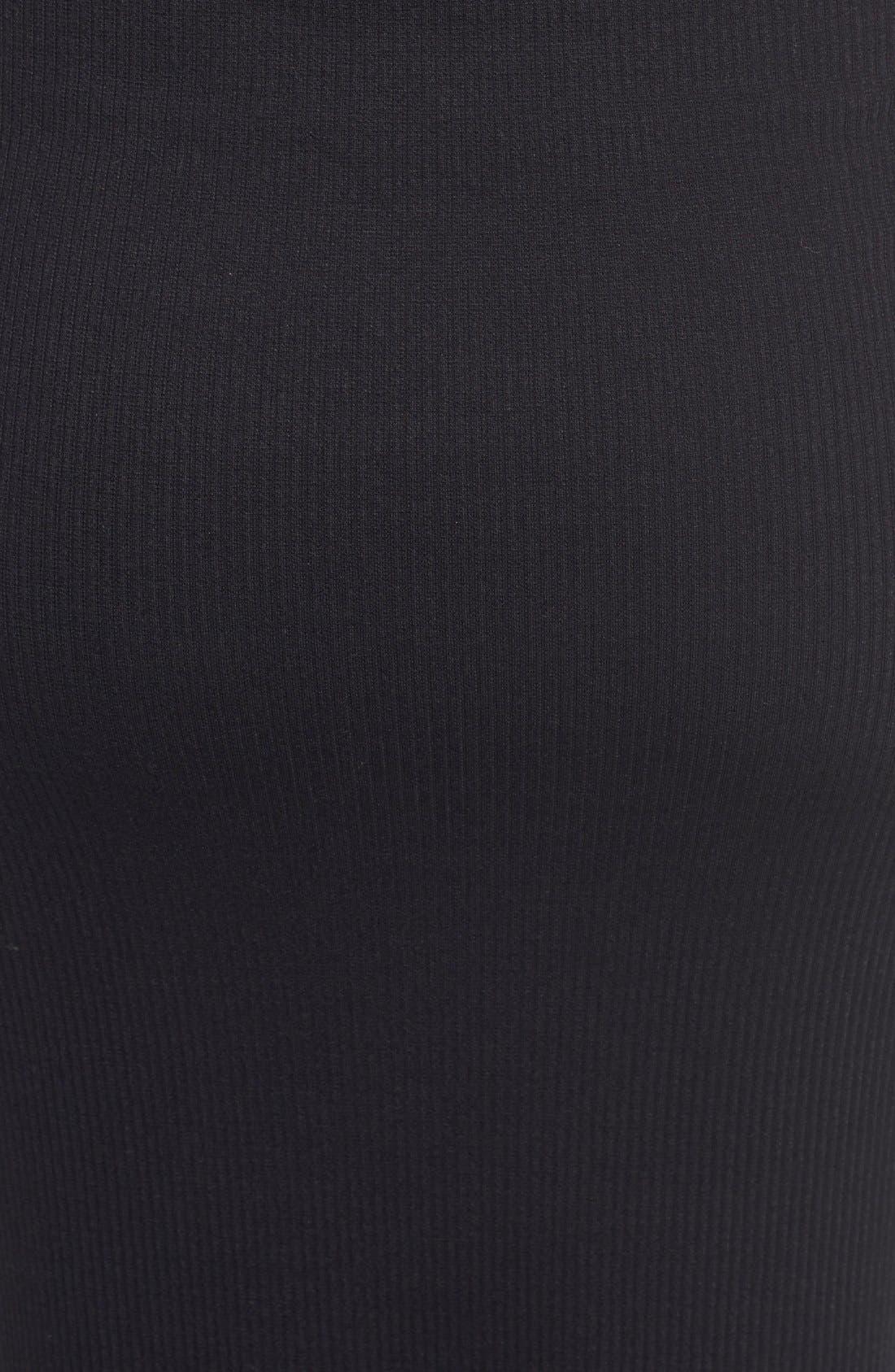Alternate Image 6  - Soprano Rib Knit Sleeveless Turtleneck Midi Dress