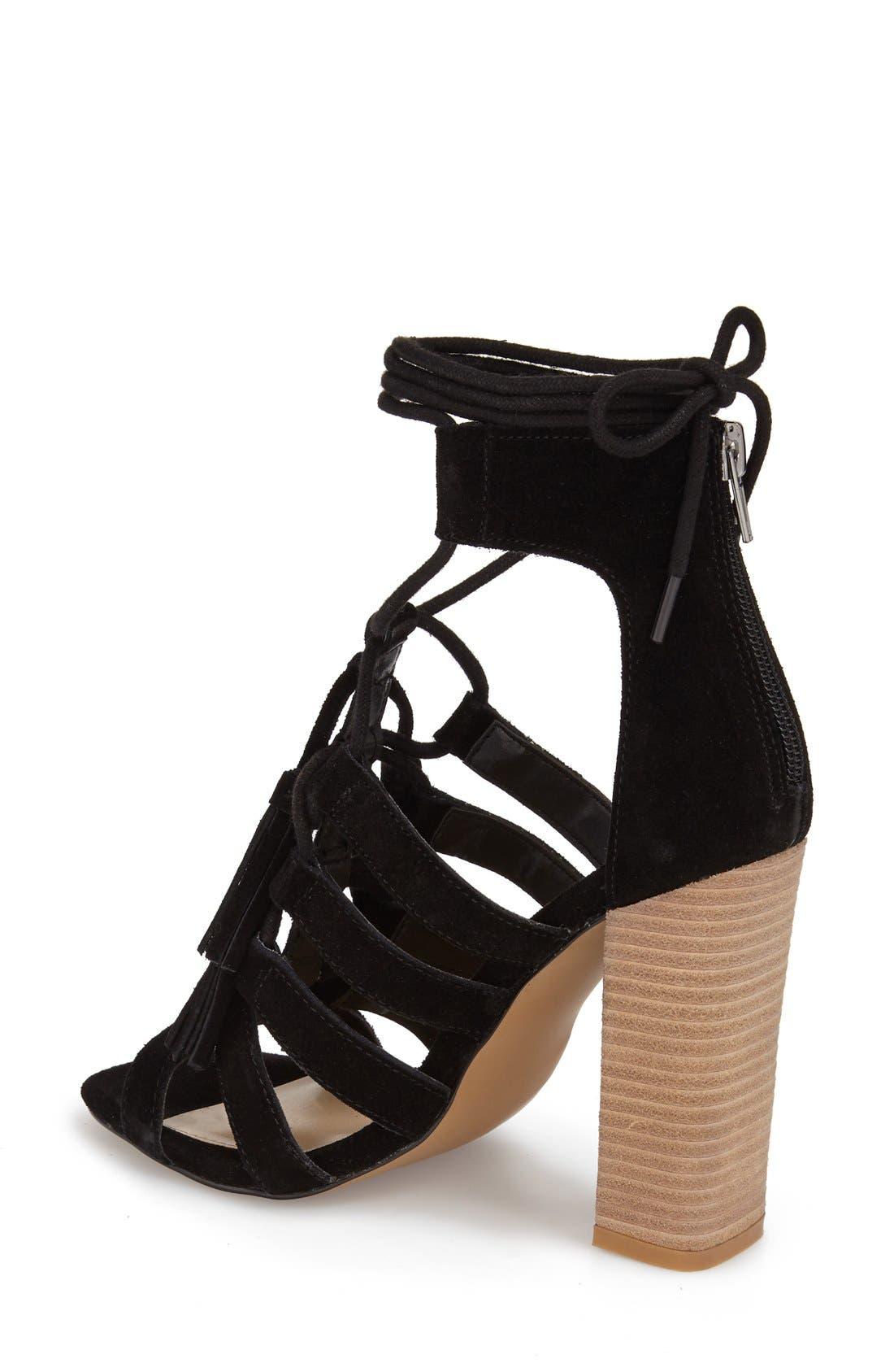 Alternate Image 2  - Steve Madden 'Tasssal' Lace-Up Sandal (Women)