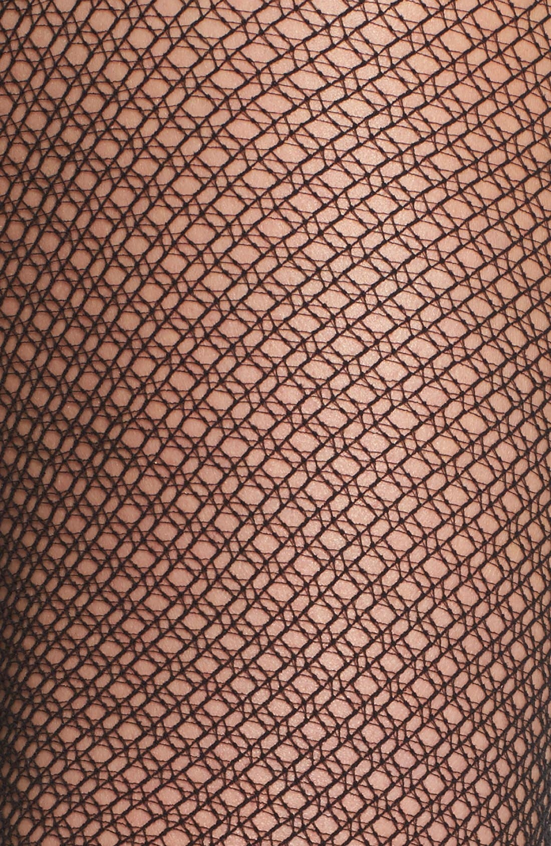 'Everyday Crochet' Control Top Tights,                             Alternate thumbnail 2, color,                             Black