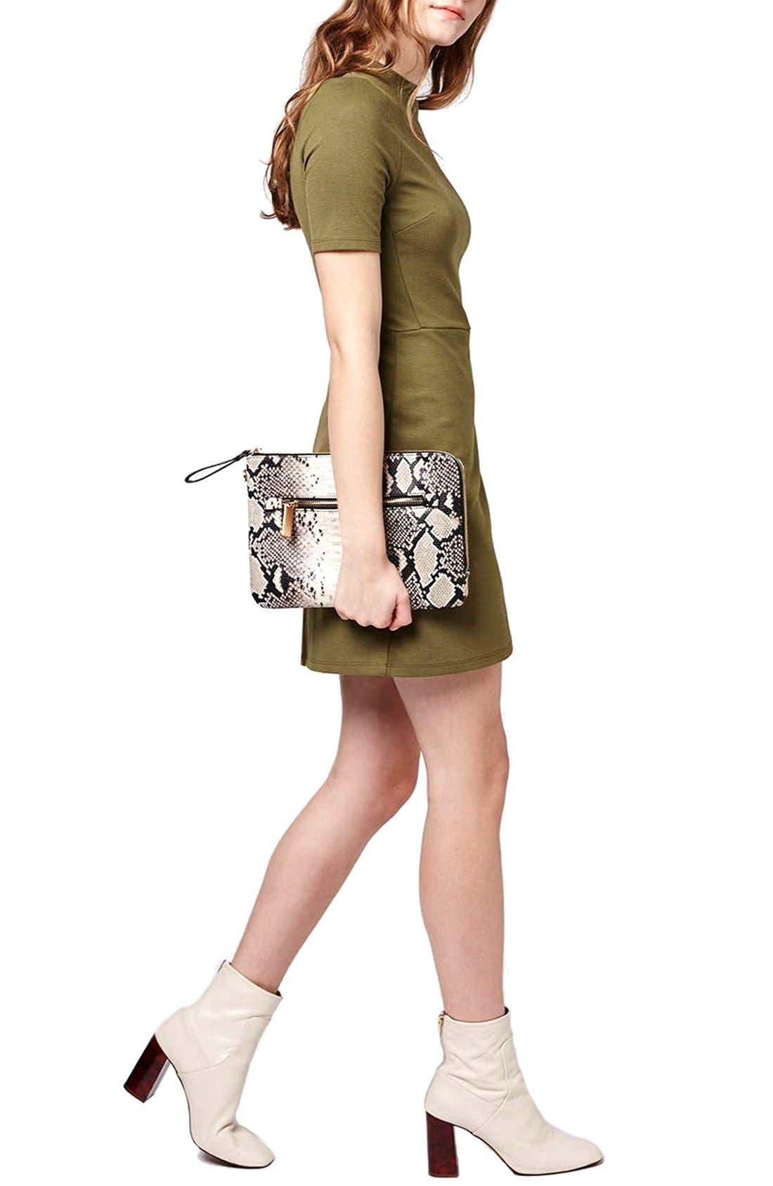 Main Image - Topshop Faux Wrap Body-Con Dress (Petite)