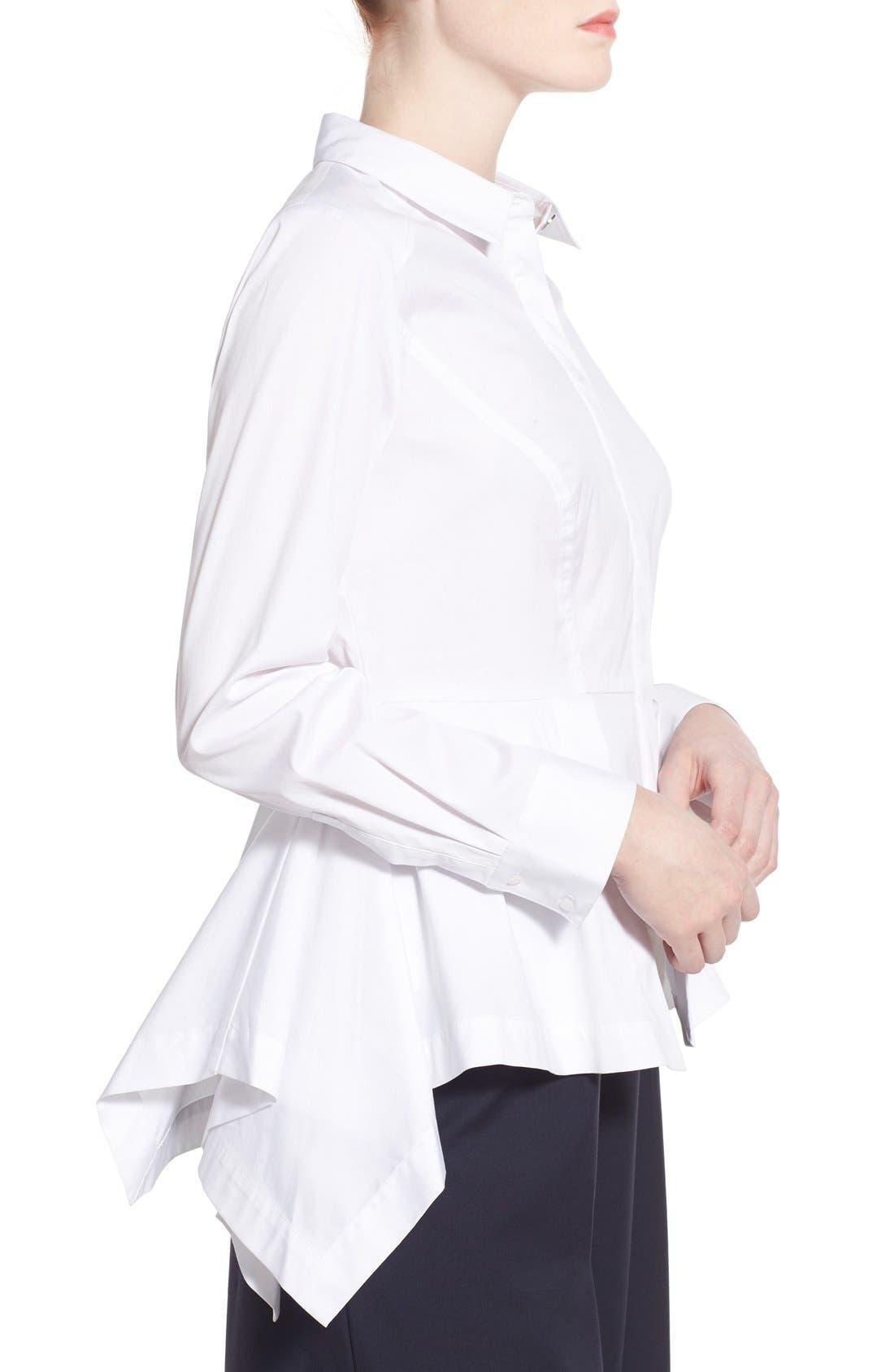 Alternate Image 3  - Olivia Palermo + Chelsea28 Poplin Peplum Shirt