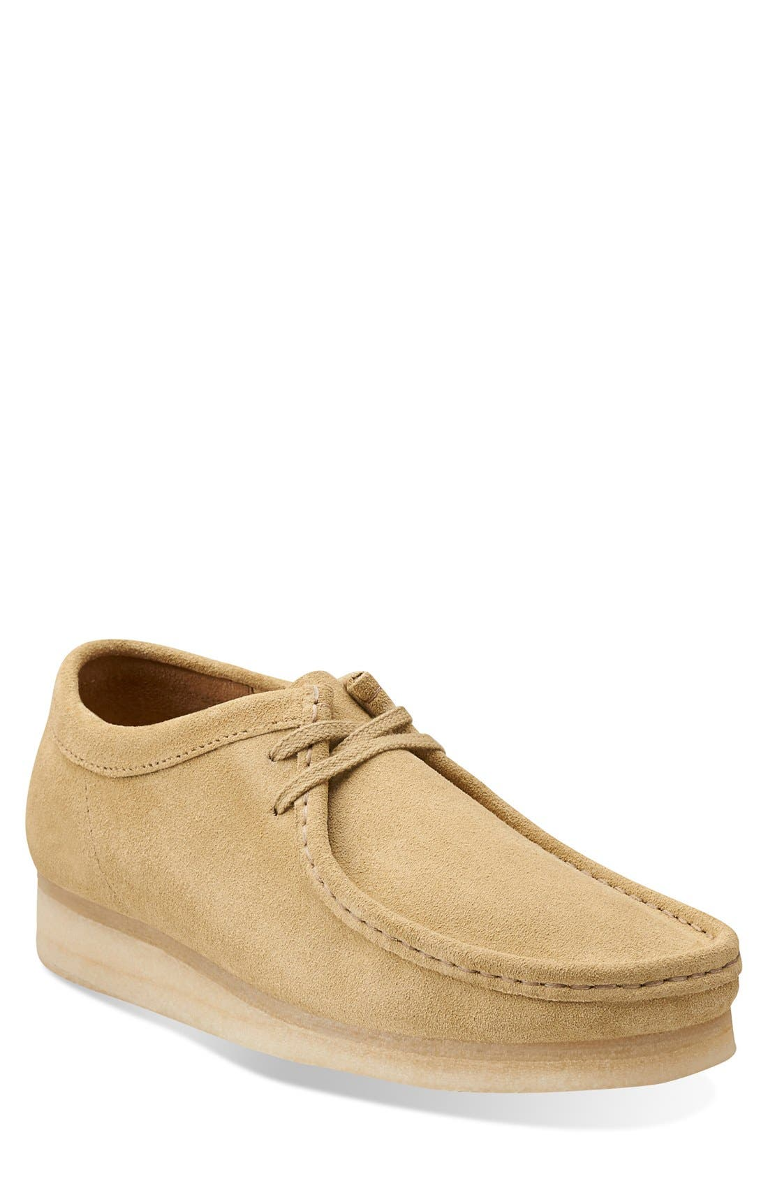 'Wallabee' Moc Toe Derby (Online Only),                             Main thumbnail 1, color,                             Maple Suede