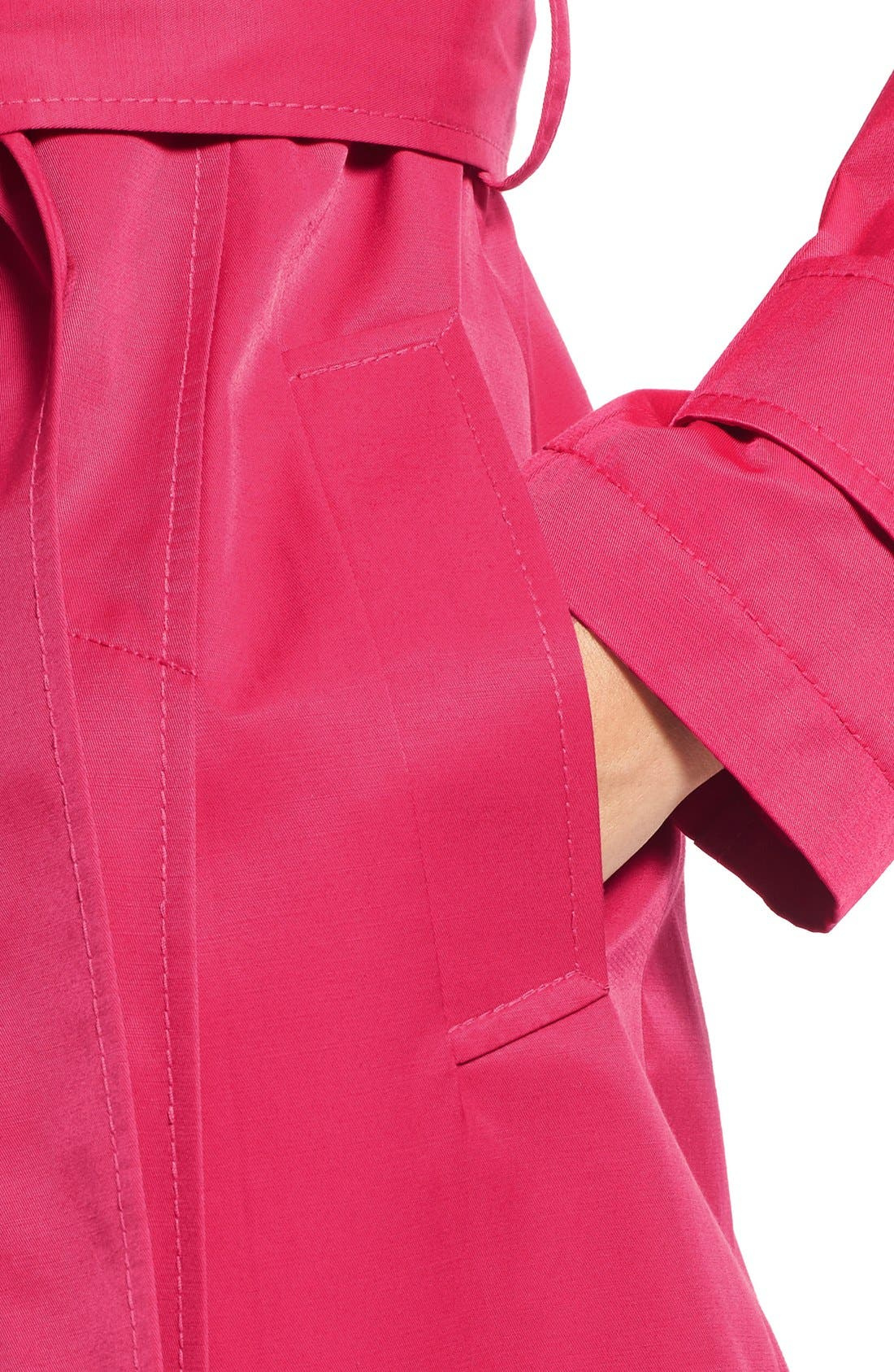 Detachable Hood Trench Coat,                             Alternate thumbnail 6, color,                             Primrose