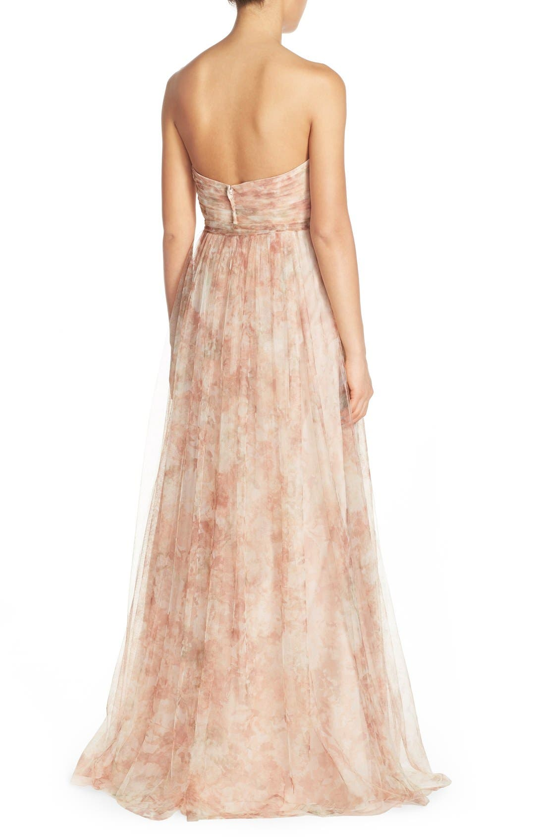 Alternate Image 2  - Jenny Yoo 'Annabelle' Print Tulle Convertible Column Gown