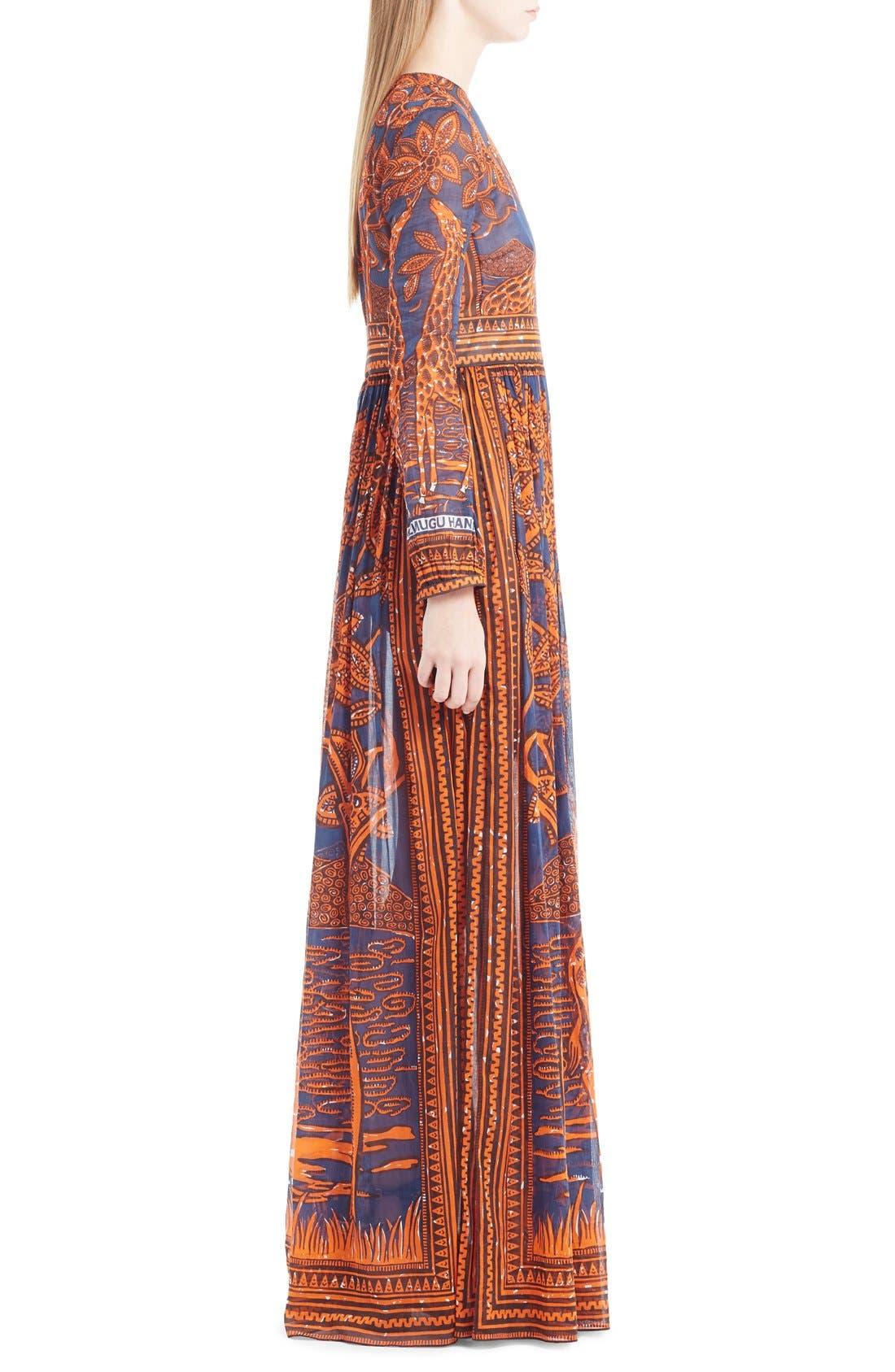 Alternate Image 4  - Valentino Giraffe Print Cotton Gown