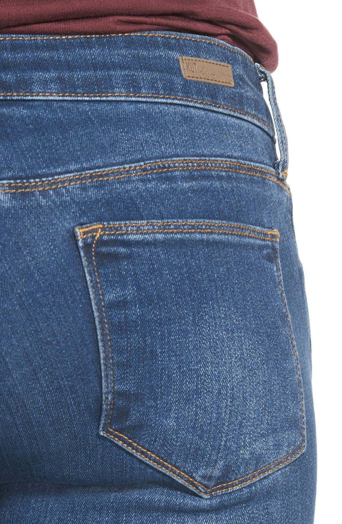 Alternate Image 4  - KUT from the Kloth 'Chrissy' Stretch Flare Leg Jeans (Inclusion)