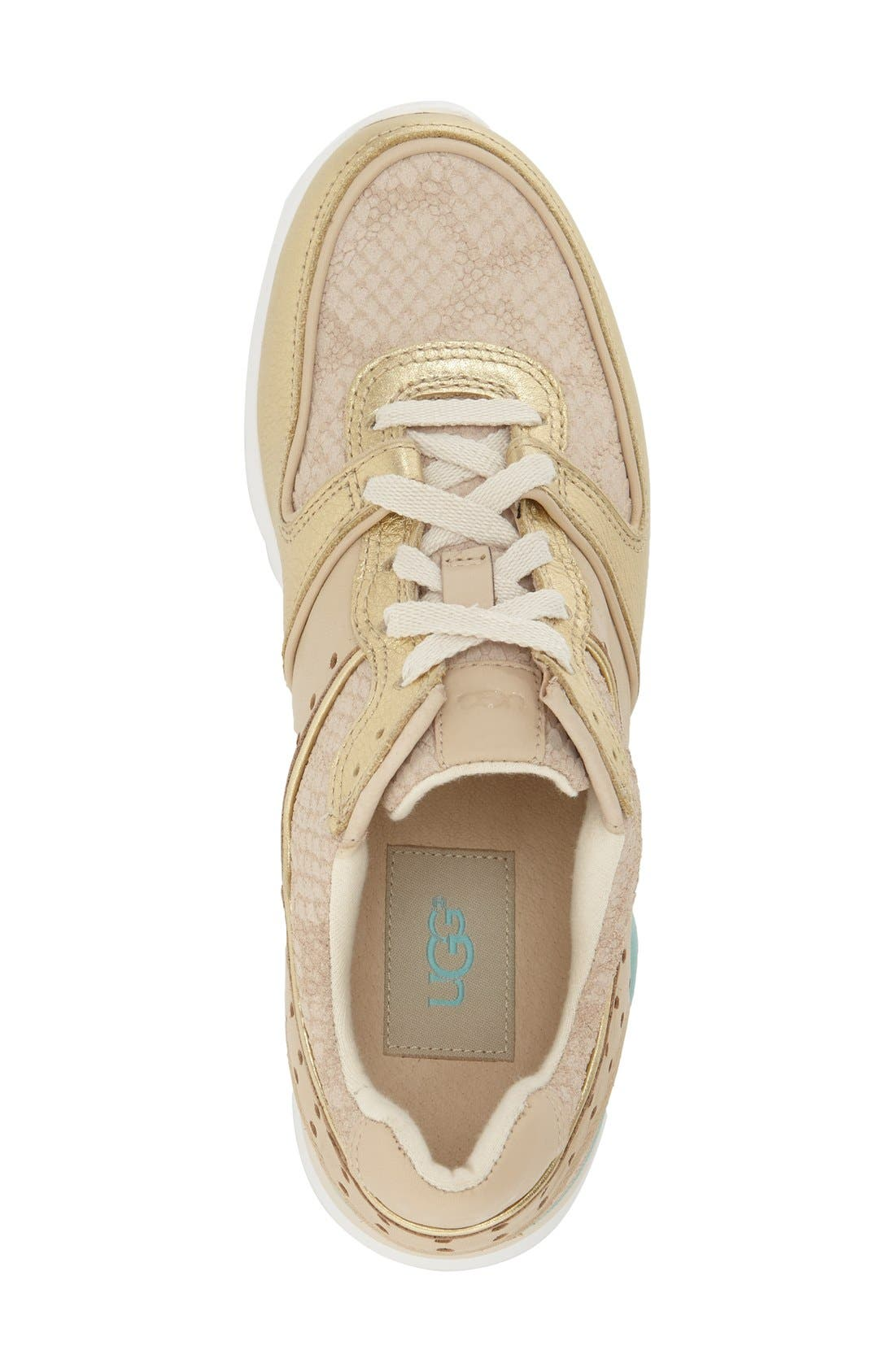 Deaven Sneaker,                             Alternate thumbnail 3, color,                             Gold Fabric