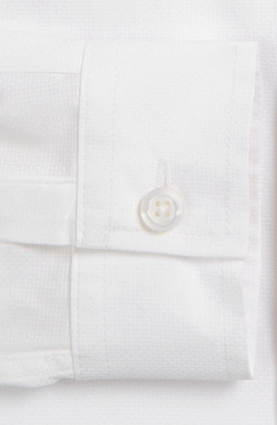 Alternate Image 4  - Topman Slim Fit Textured Cotton Dress Shirt