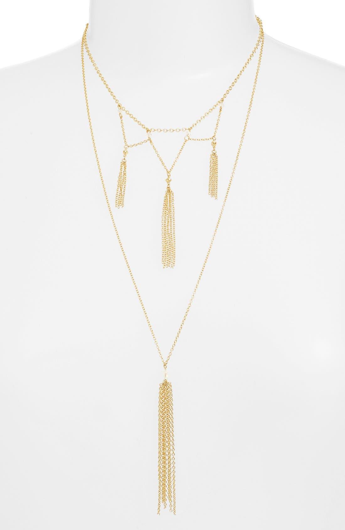 Ettika Tier Tassel Bead Necklace