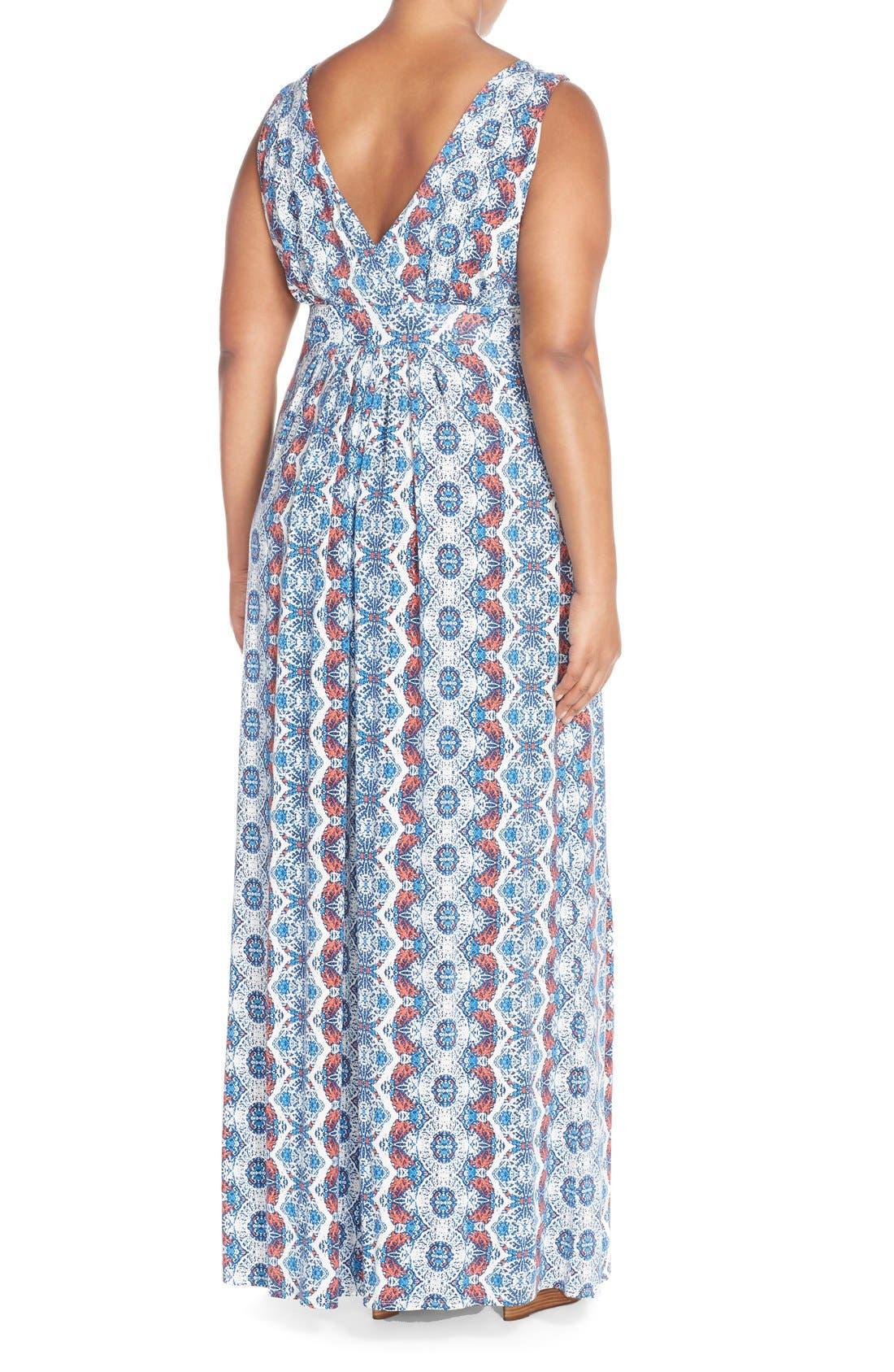 Alternate Image 2  - Tart Chloe Empire Waist Maxi Dress (Plus Size)