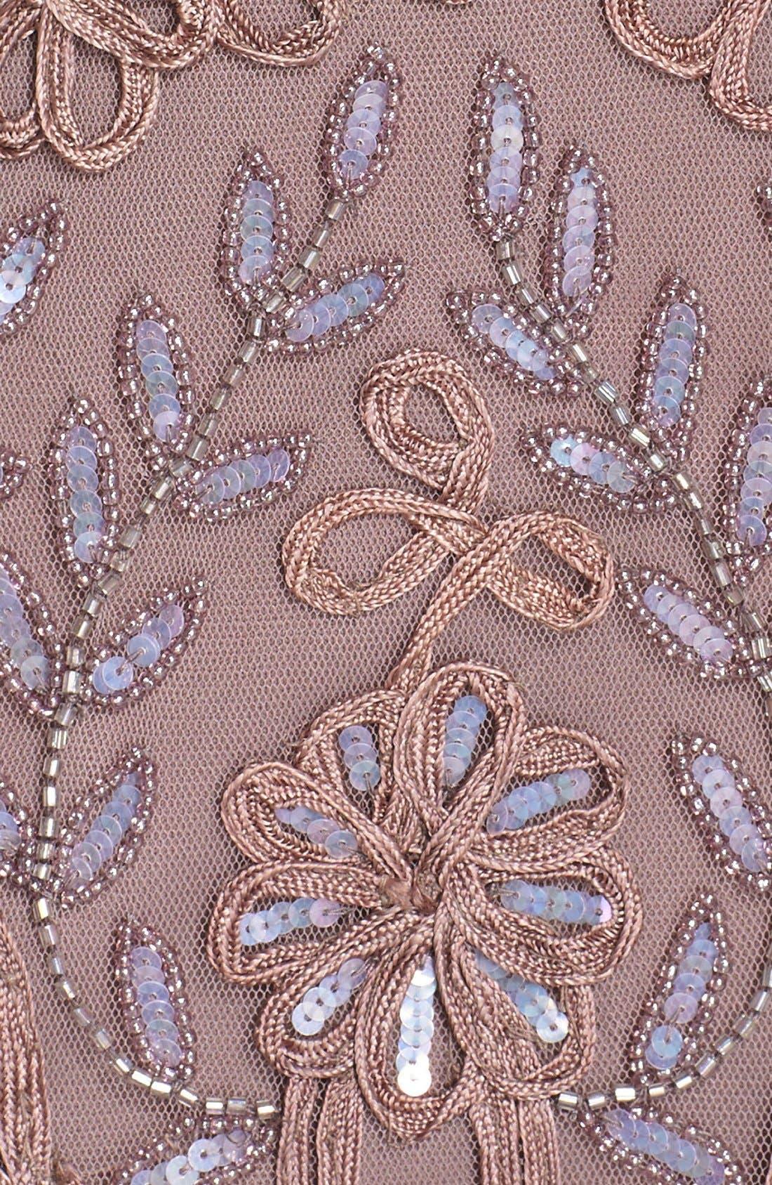 Embellished Soutache Sheath Dress,                             Alternate thumbnail 6, color,                             Dusty Lavender