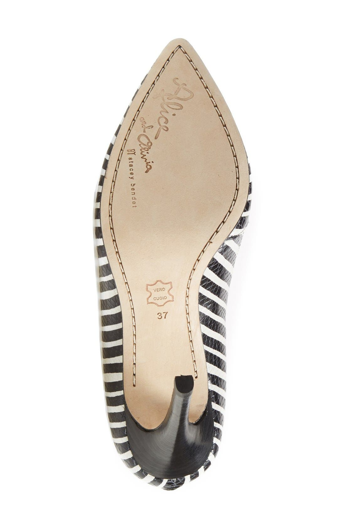 Alternate Image 4  - Alice + Olivia 'Dina' Pointy Toe Pump (Women)