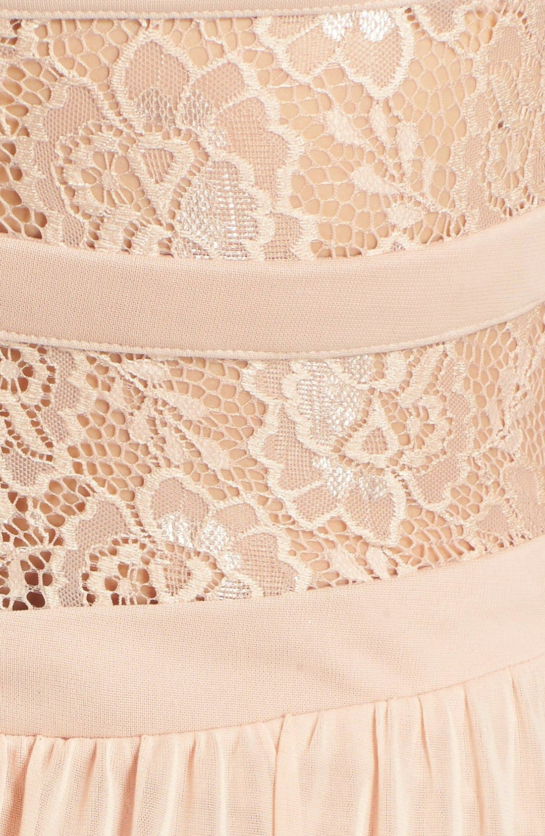 Alternate Image 6  - Way-In 'Diana' Lace Inset Strapless Gown