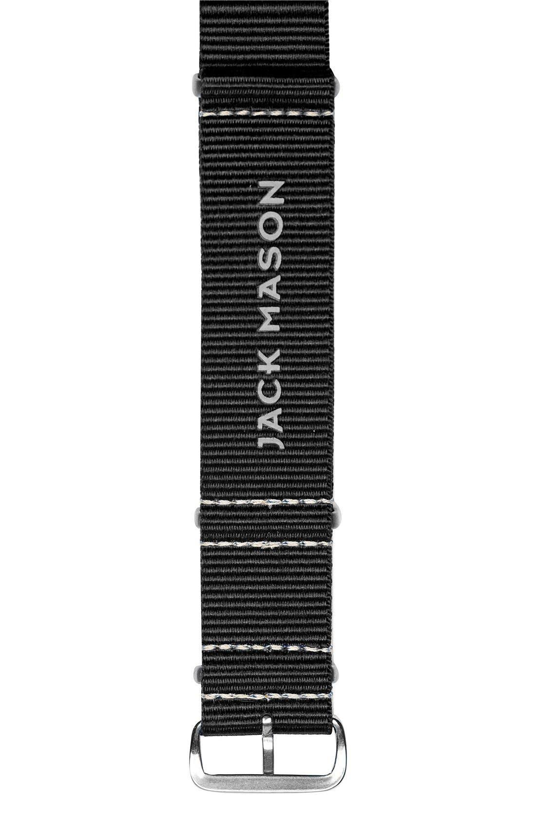Nylon Nato Strap, 22mm,                         Main,                         color, Black