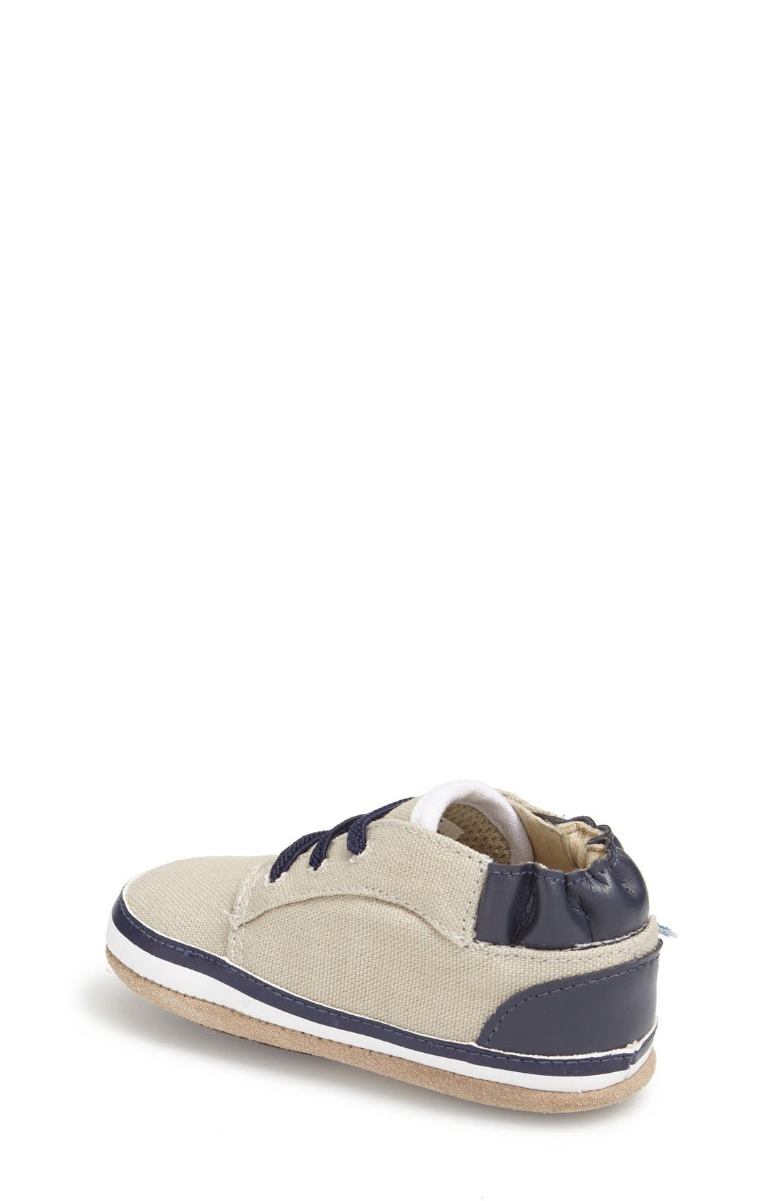 Alternate Image 2  - Robeez® 'Tyler Low Top' Crib Shoe (Baby)