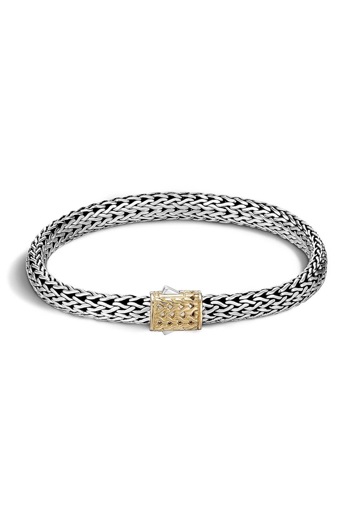 'Classic Chain' Bracelet,                             Main thumbnail 1, color,                             Silver/ Gold
