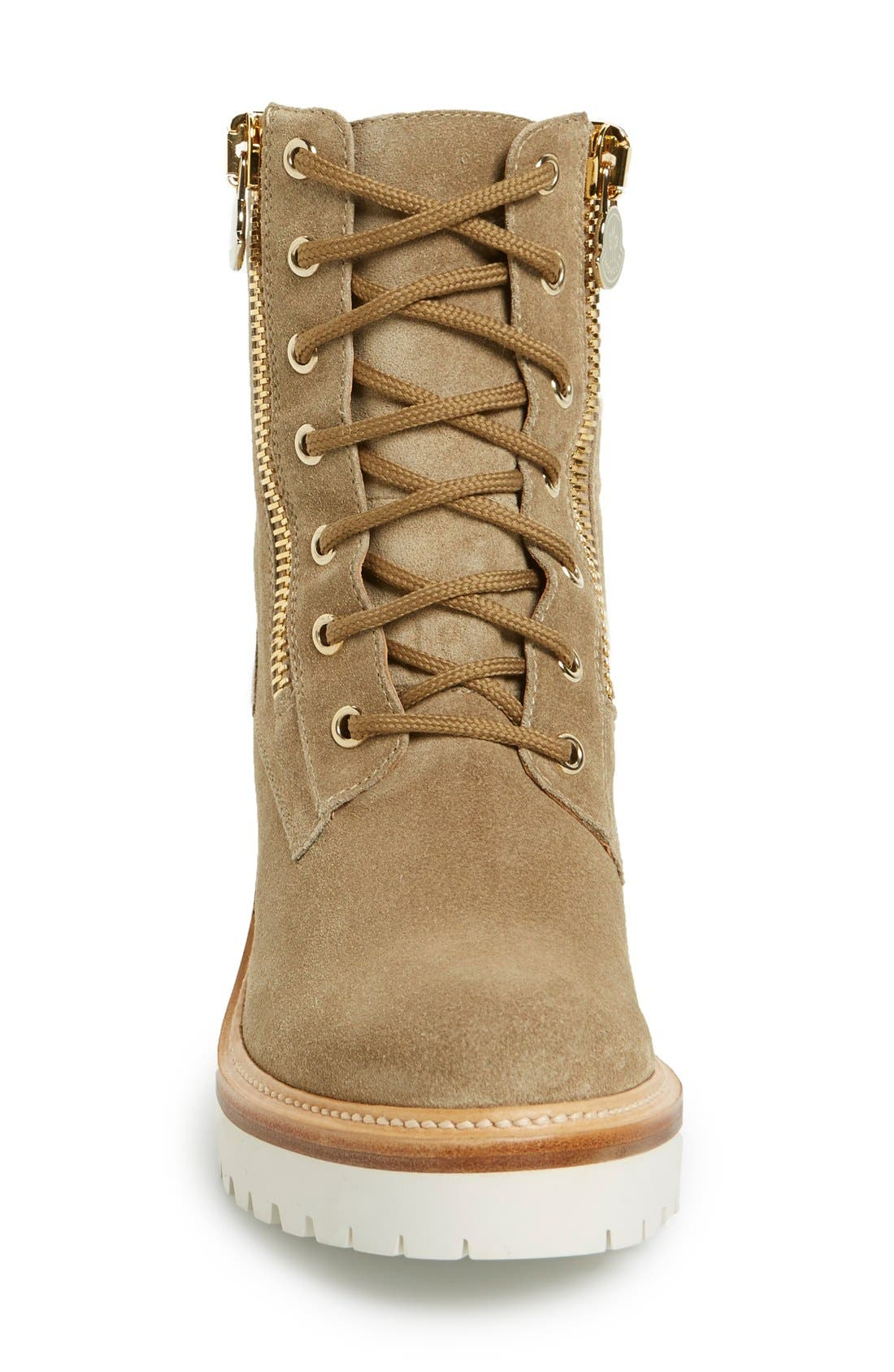 'Viviane' Hiker Boot,                             Alternate thumbnail 3, color,                             Brown Suede Calfskin