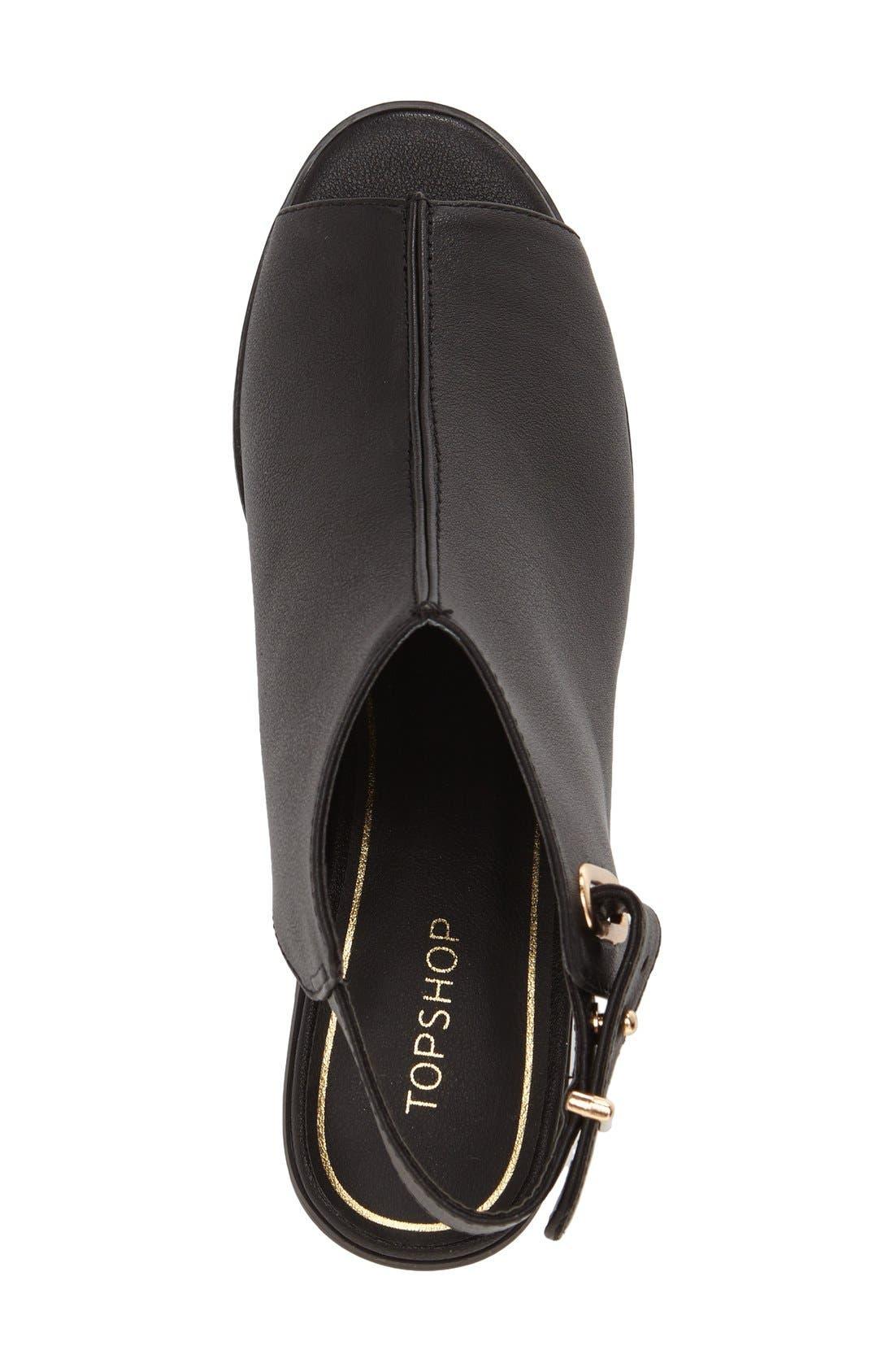 Alternate Image 3  - Topshop 'Nix' Slingback Block Heel Sandal (Women)