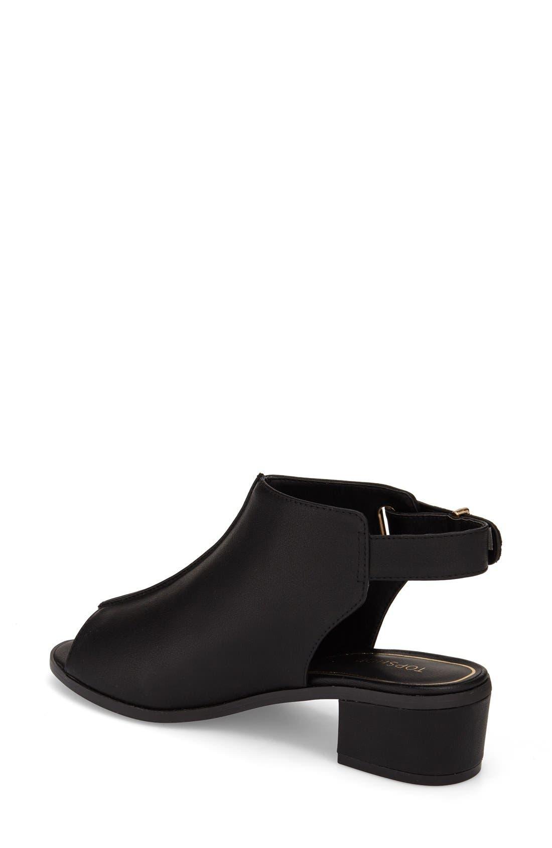 Alternate Image 2  - Topshop 'Nix' Slingback Block Heel Sandal (Women)