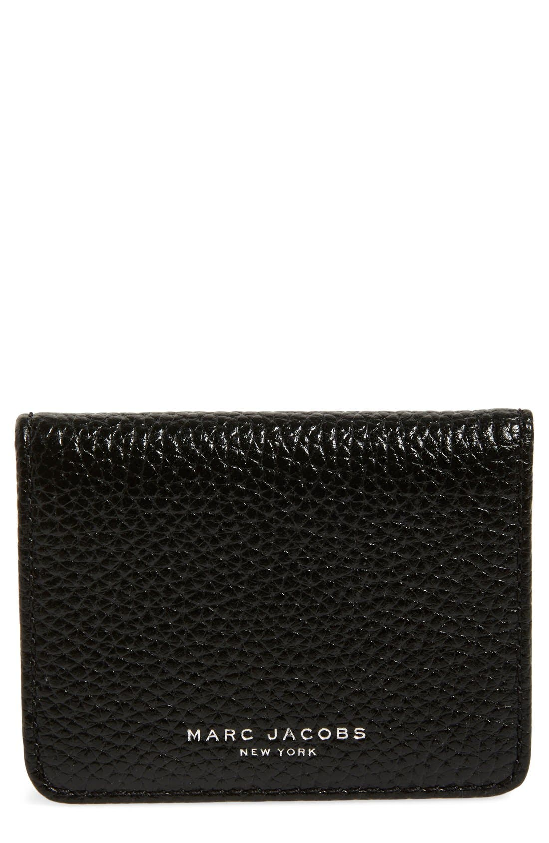 MARC JACOBS 'Gotham' Leather Card Case
