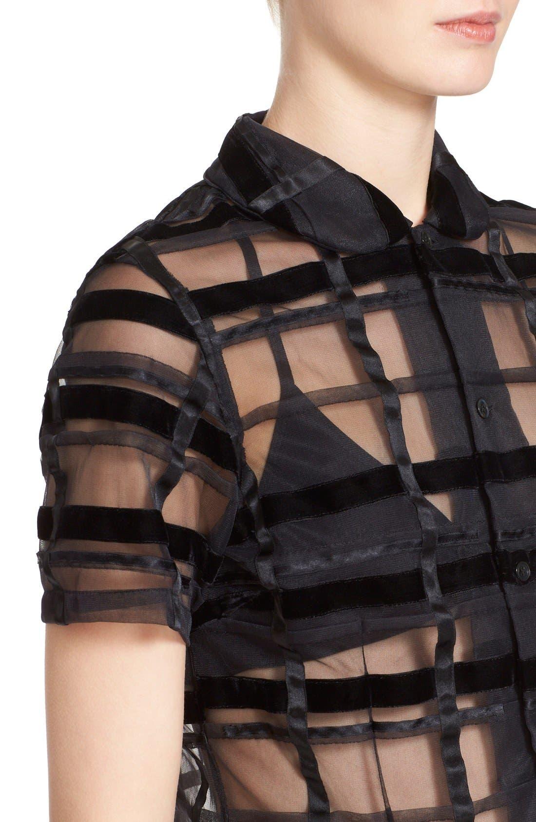 Alternate Image 5  - Comme des Garçons Sheer Button Front Blouse