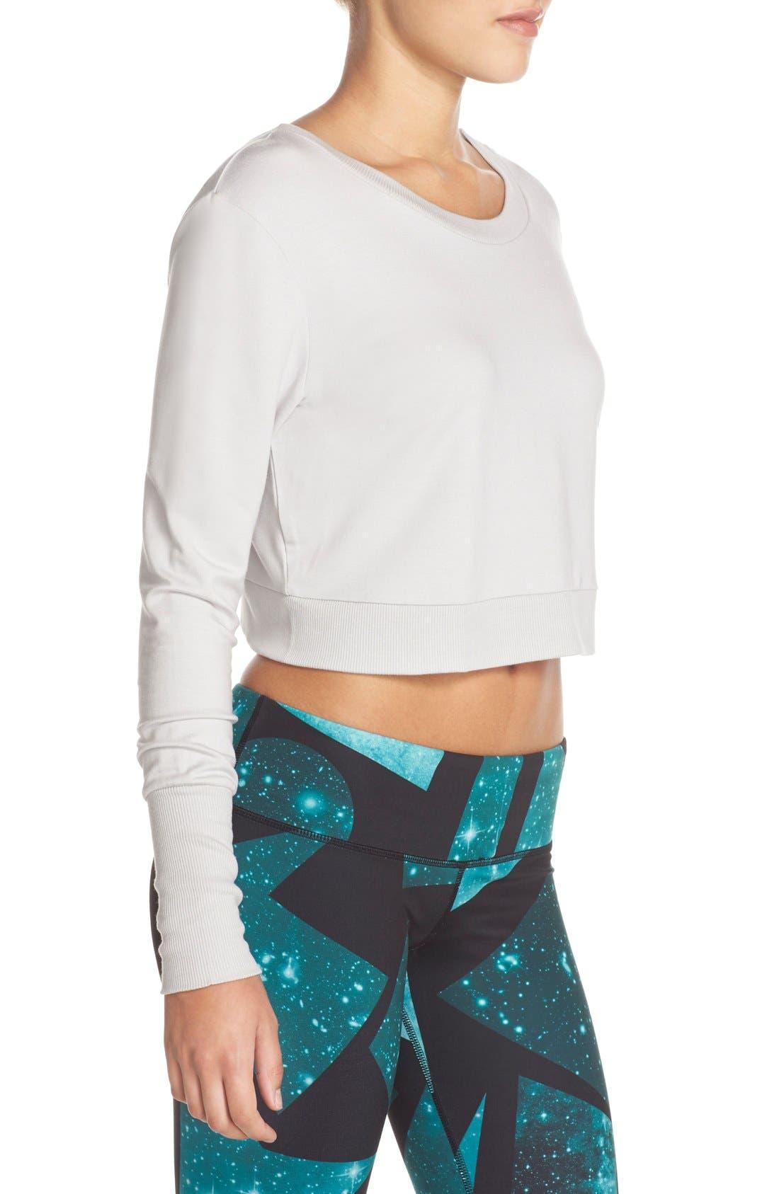 Alternate Image 3  - Alo 'Ava' Cross Back Crop Sweater